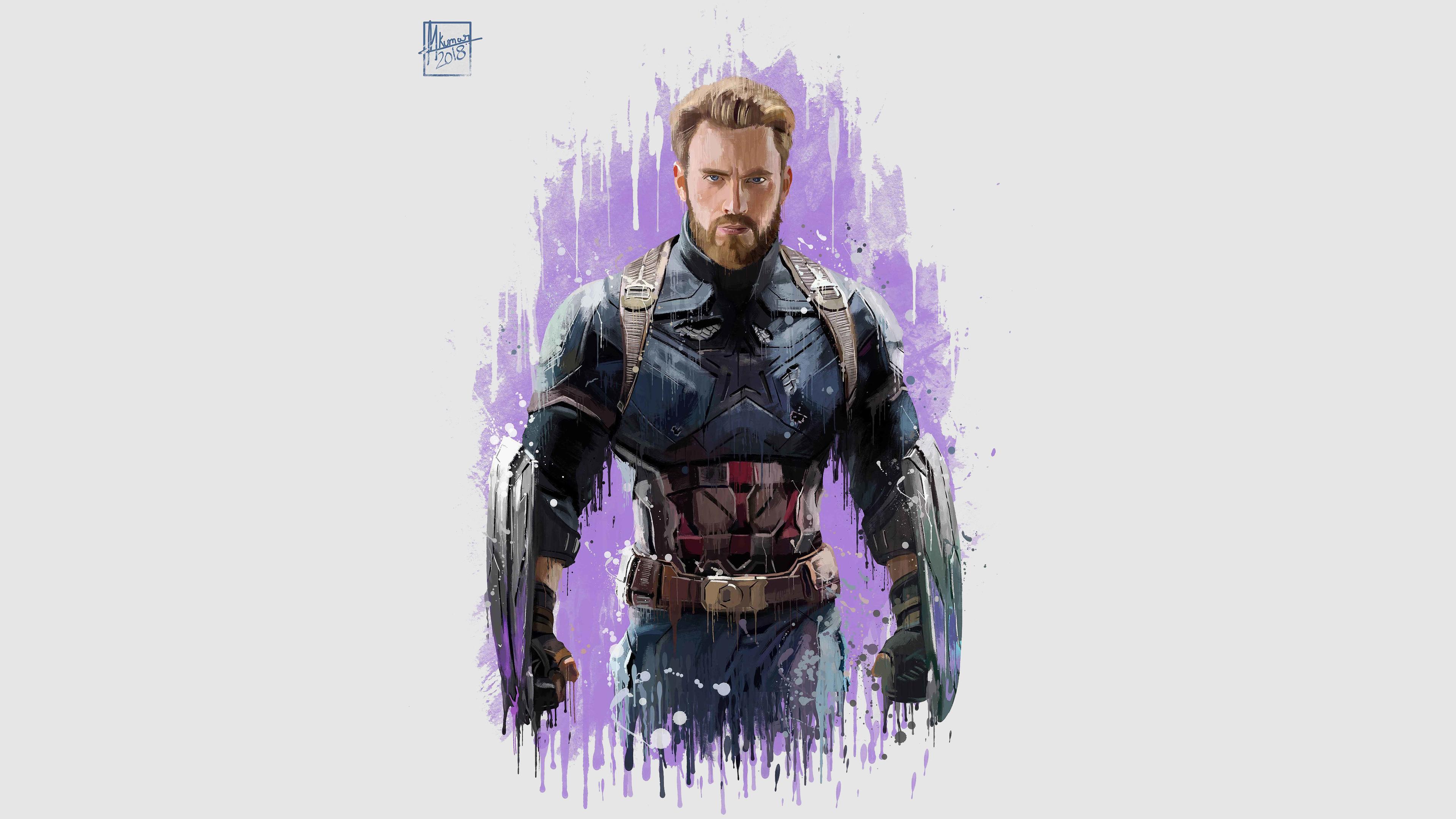 Download 3840x2400 Wallpaper Captain America Avengers