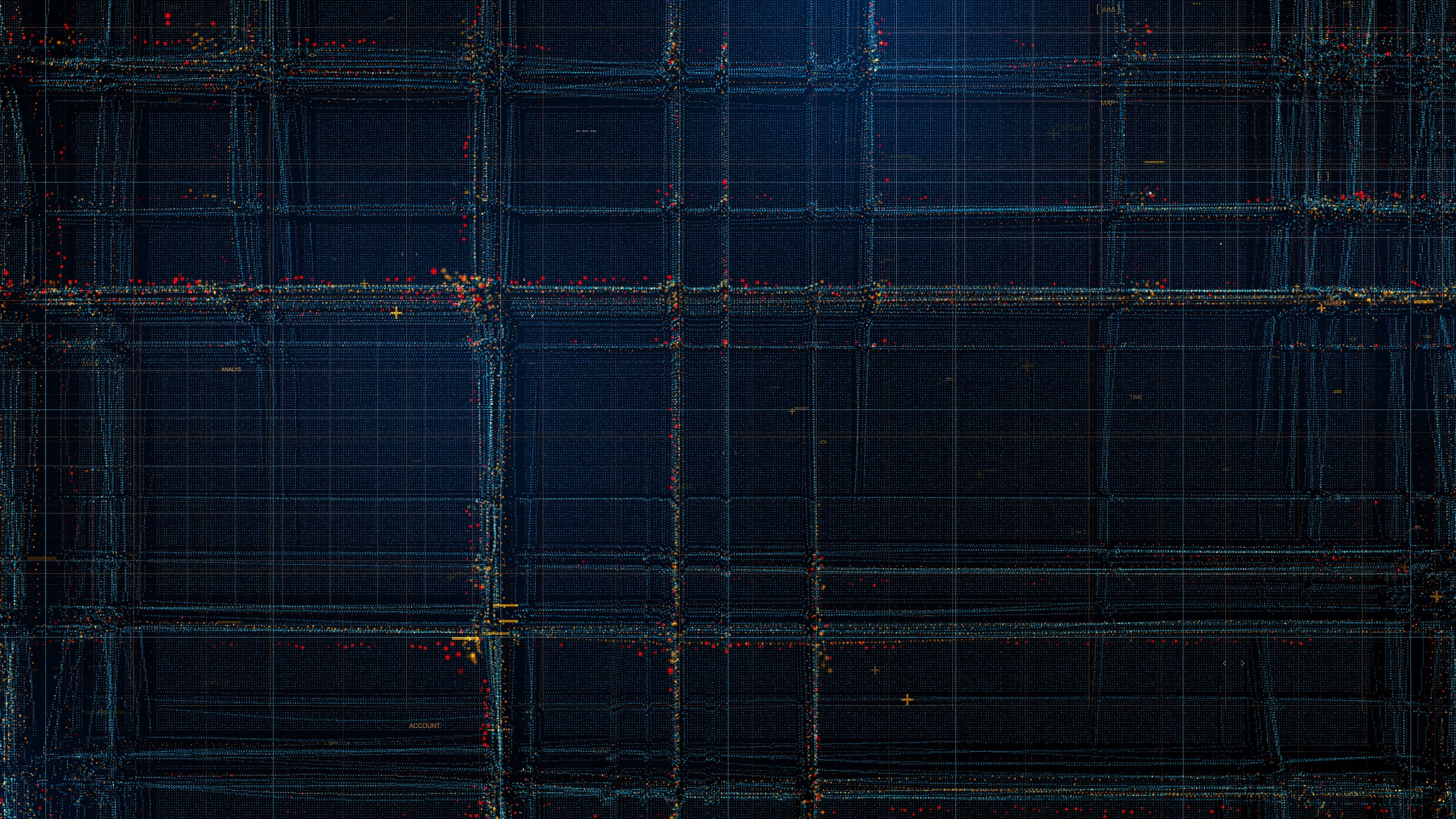 Particles, structure, lines, pattern, dark, 3840x2400 wallpaper