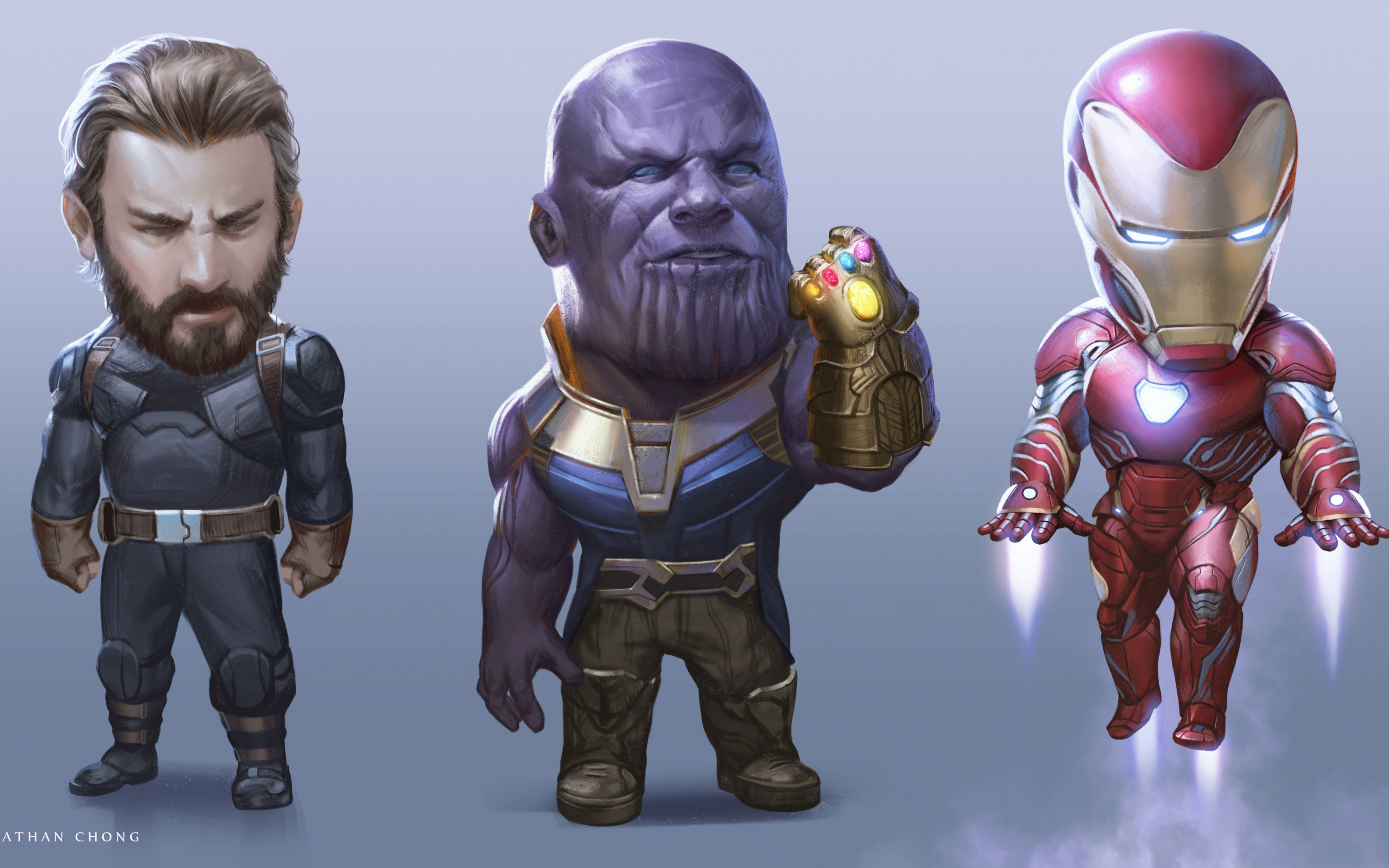 Download 3840x2400 Wallpaper Captain America Thanos Iron