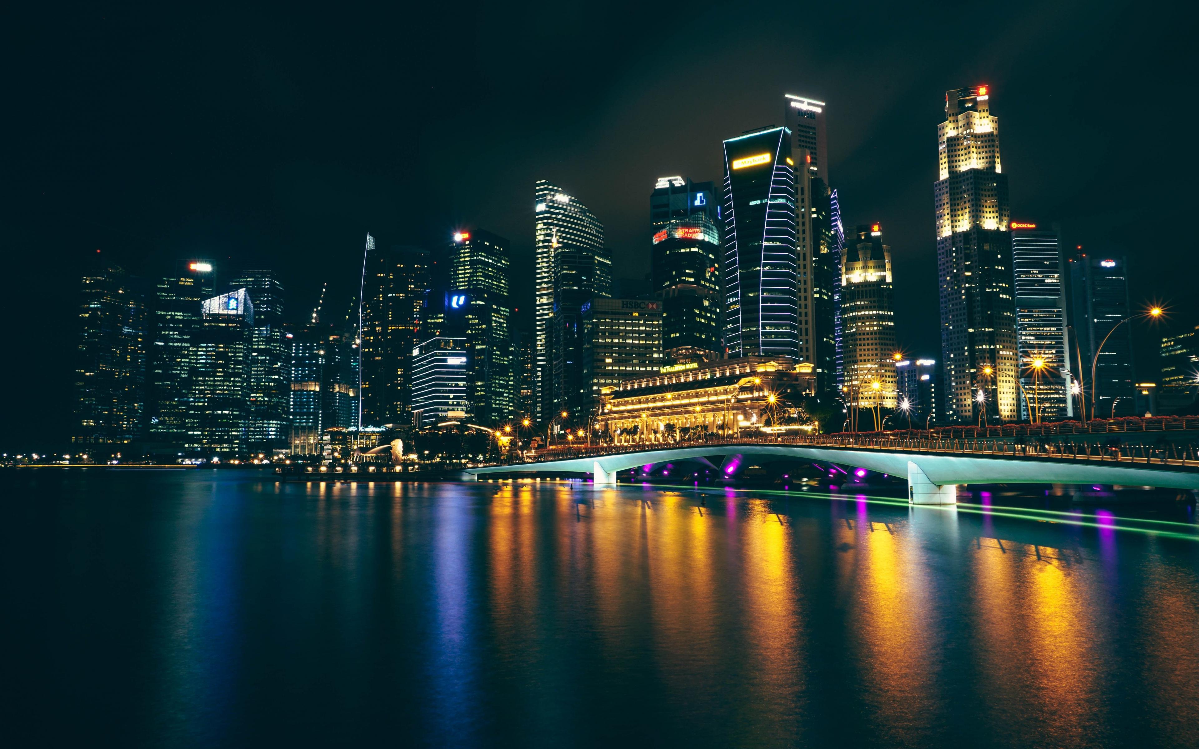 Download 3840x2400 wallpaper city, night, buildings ...