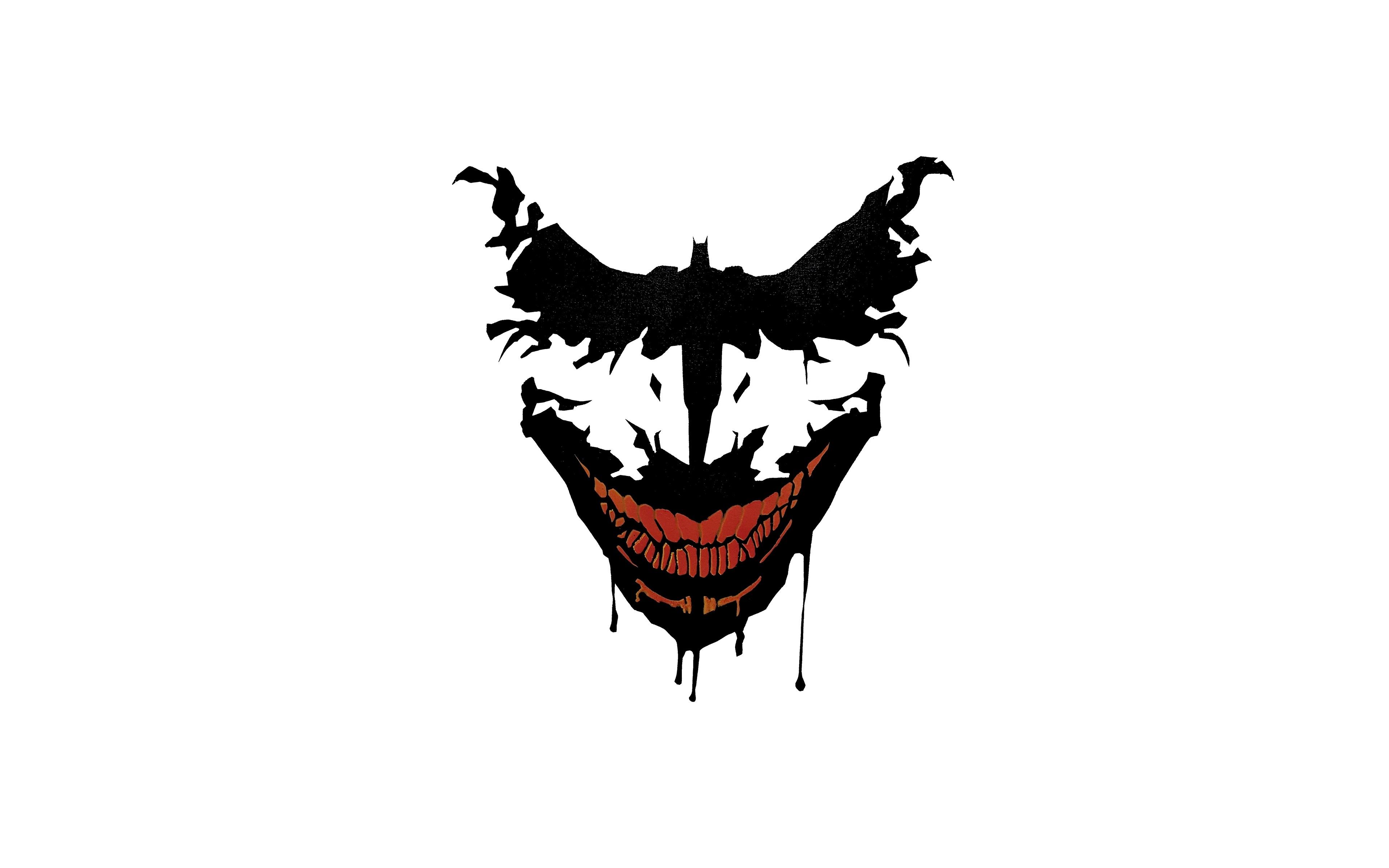 Download 3840x2400 Wallpaper Joker Smile Minimal Art 4k