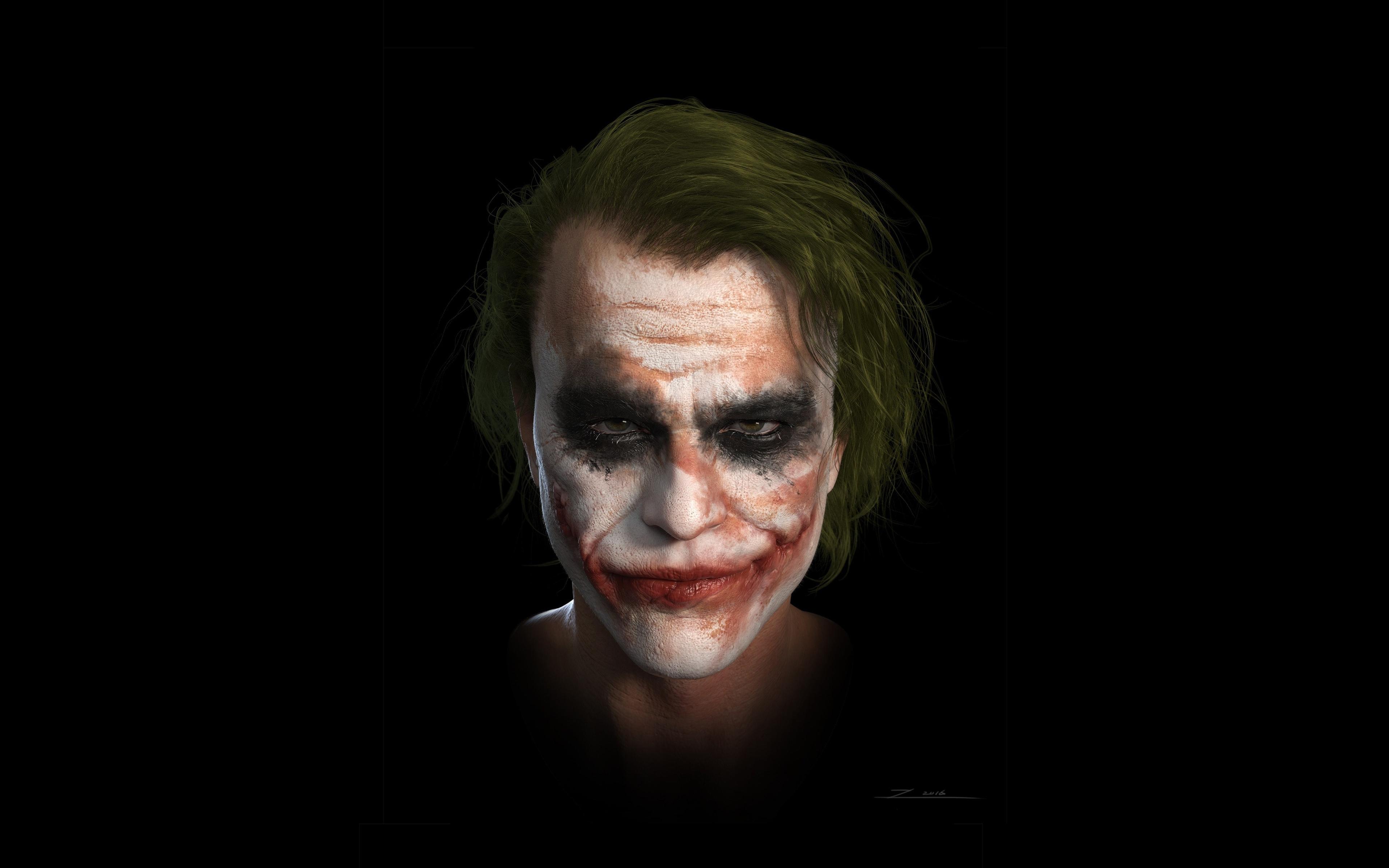 Download 3840x2400 Wallpaper Joker Heath Ledger Dc Studio