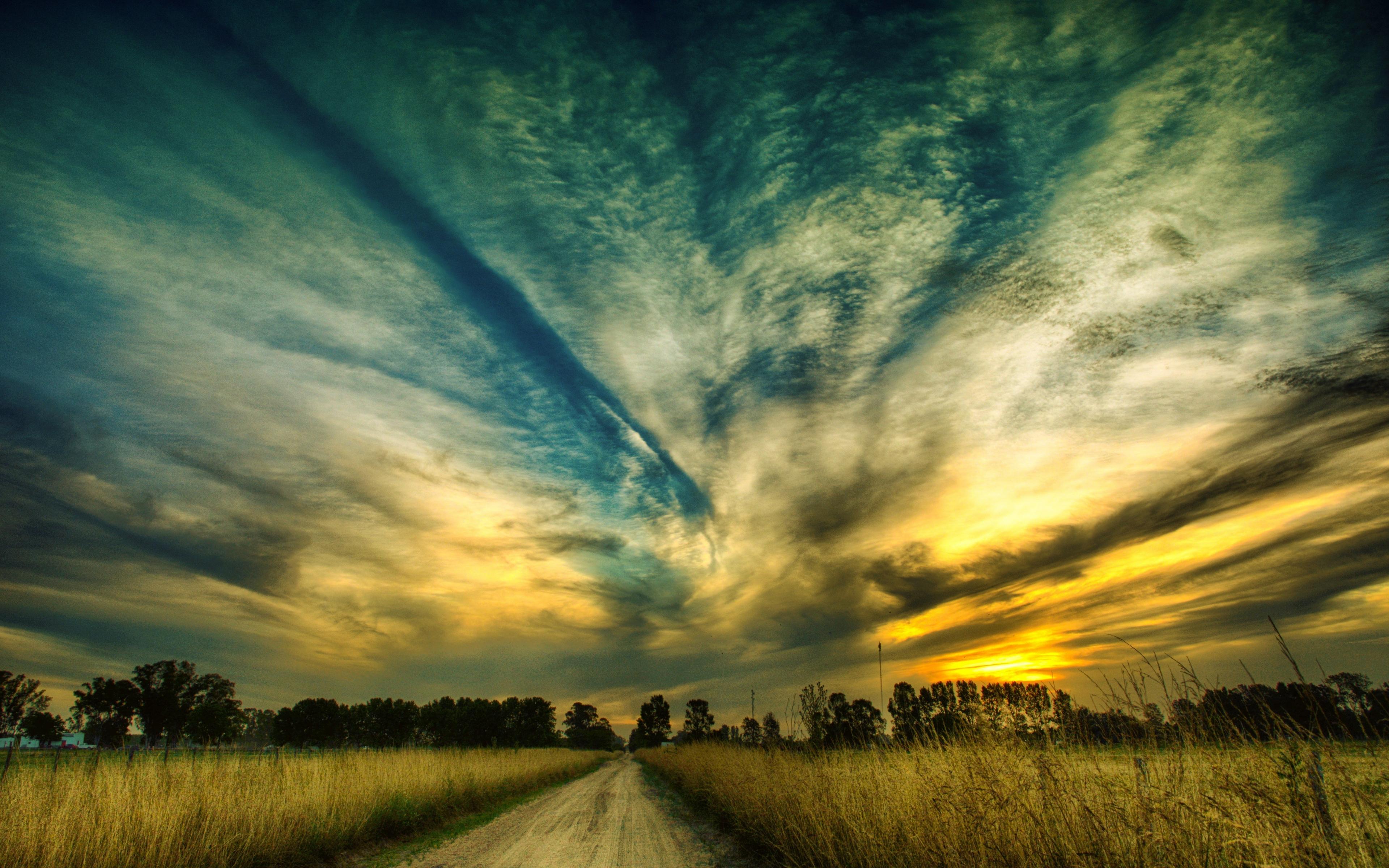 Download 3840x2400 Wallpaper Sky, Sunset, Beautiful