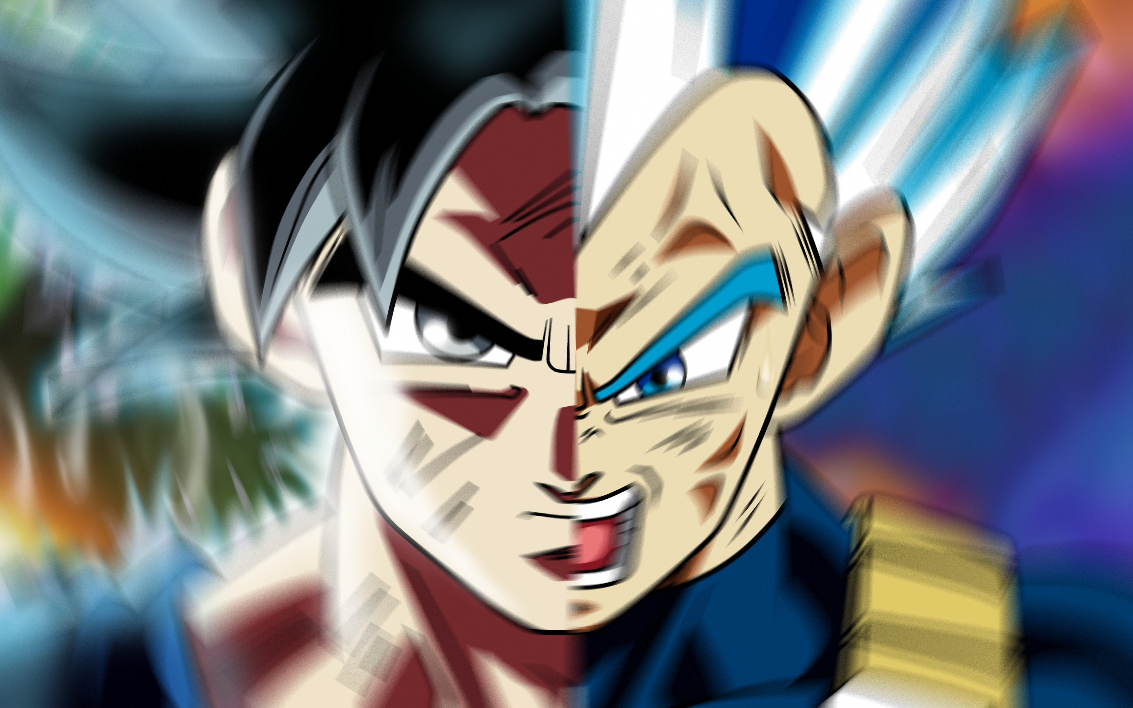 Download 3840x2400 Wallpaper Face Off Goku And Vegeta
