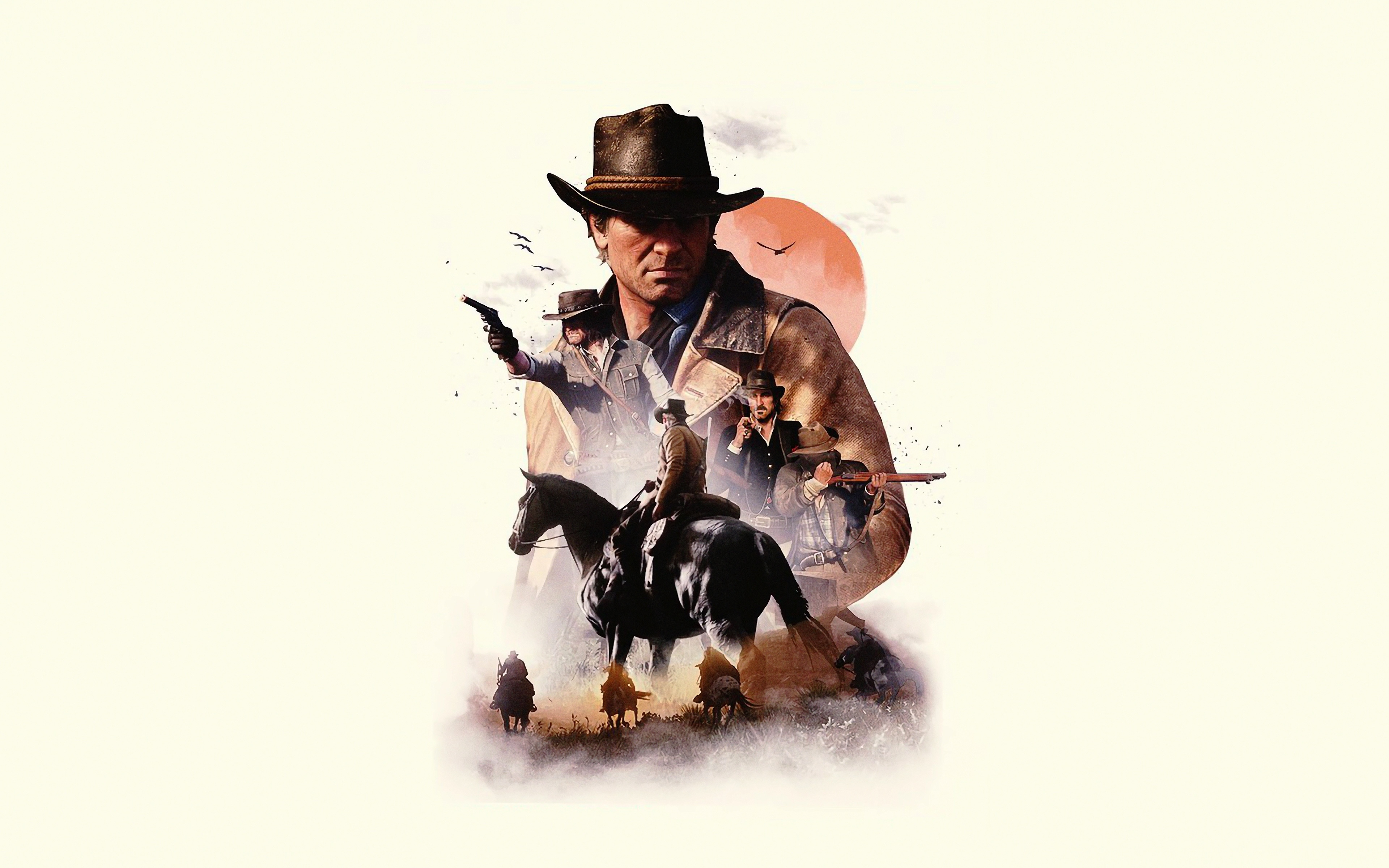 Download 3840x2400 Wallpaper Video Game Poster Red Dead