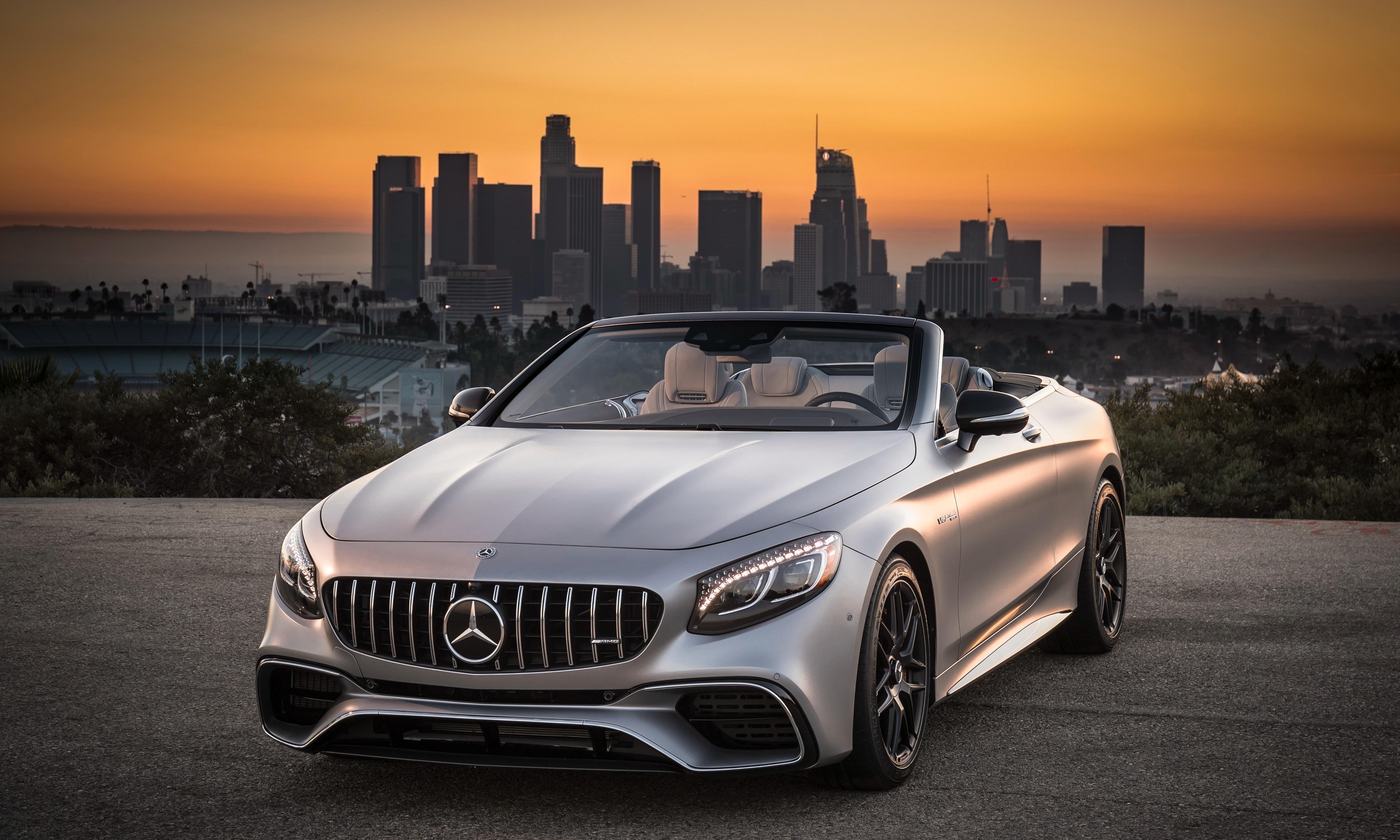 Mercedes-AMG S63 4MATIC Cabriolet, sports car, 3840x2400 wallpaper