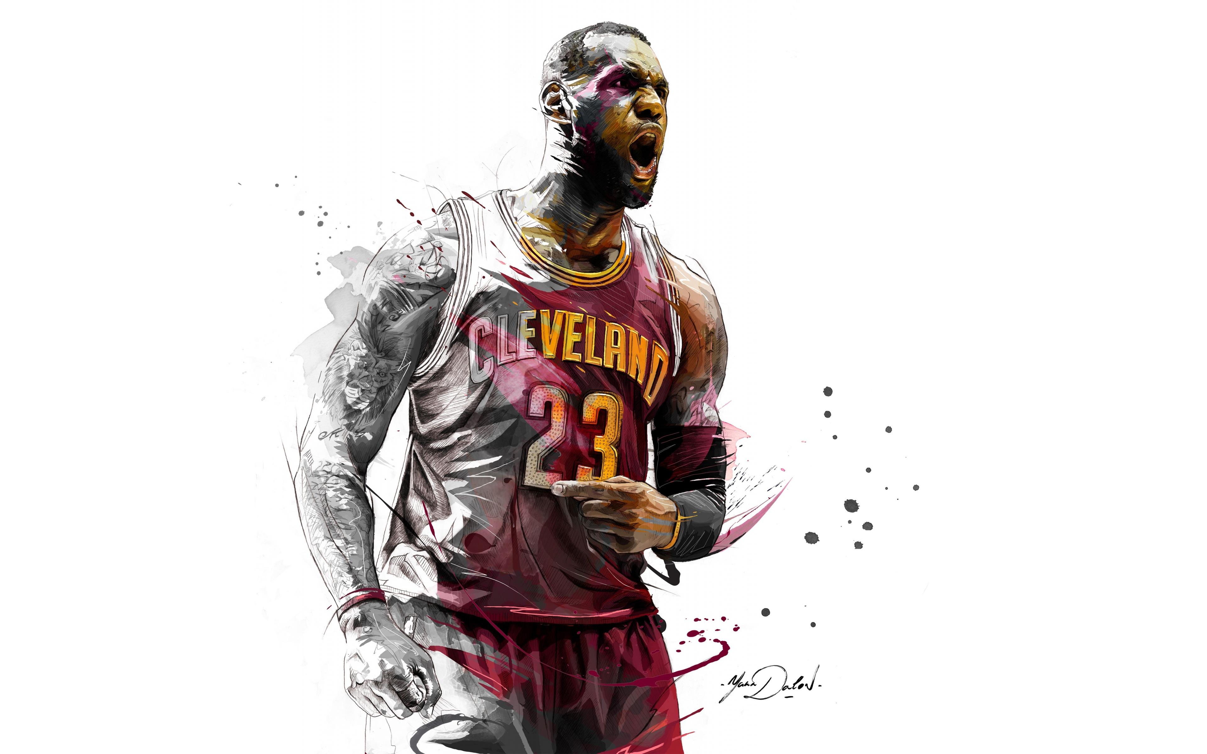 Download 3840x2400 Wallpaper Lebron James Basketball Player