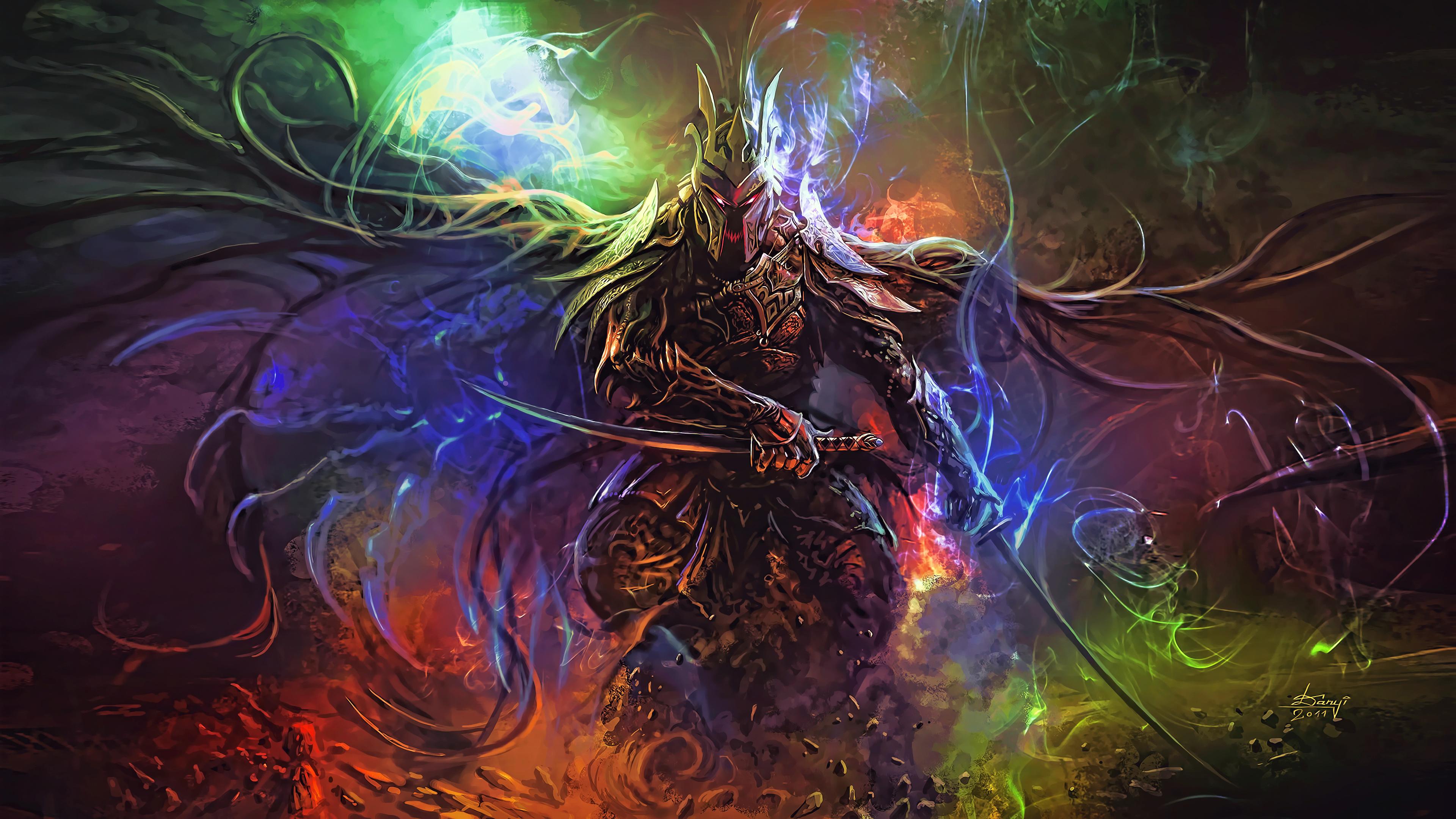 Download 3840x2400 Wallpaper Fantasy Art Warrior 4k