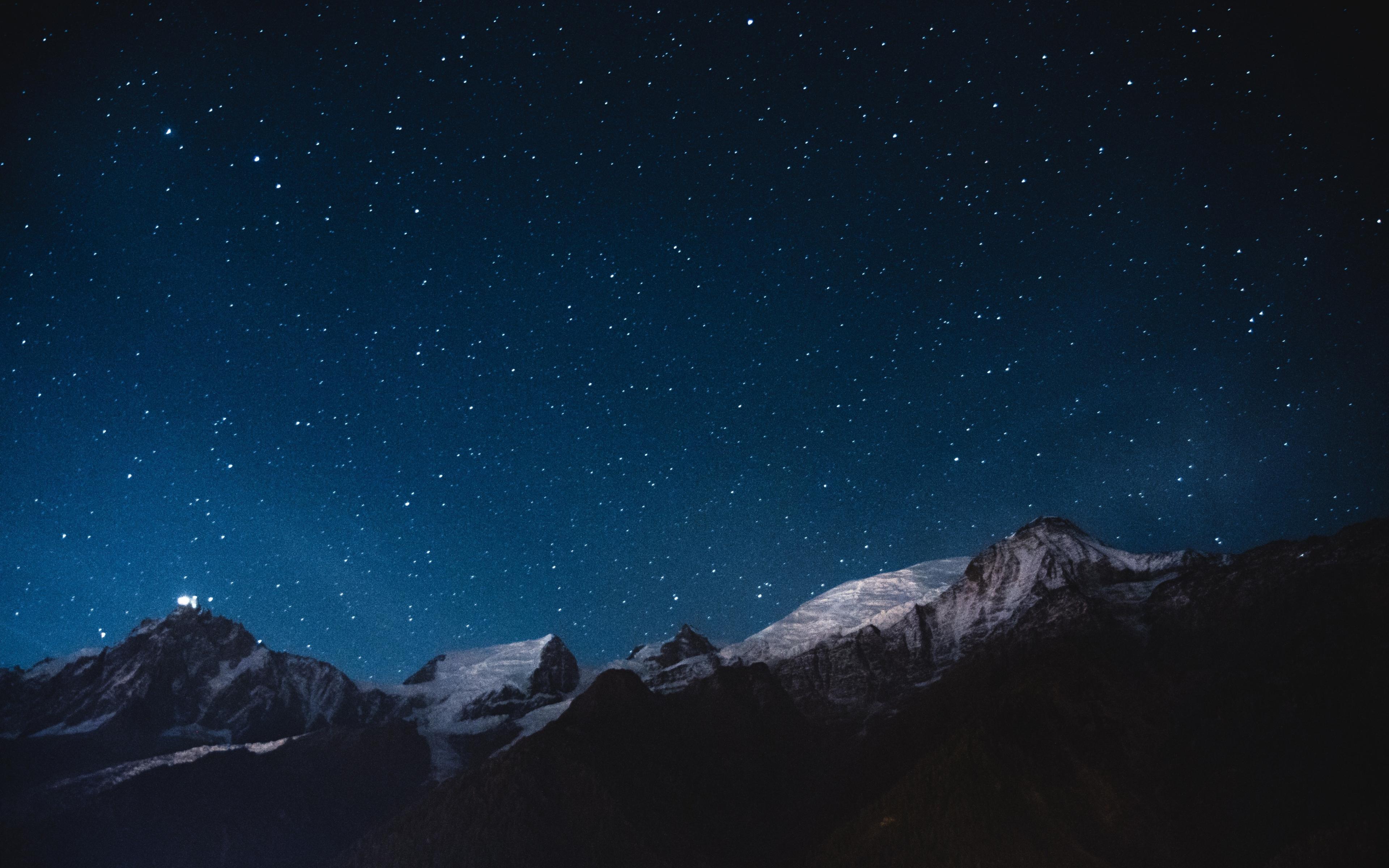 Download 3840x2400 wallpaper night mountains stars - Night mountain wallpaper 4k ...