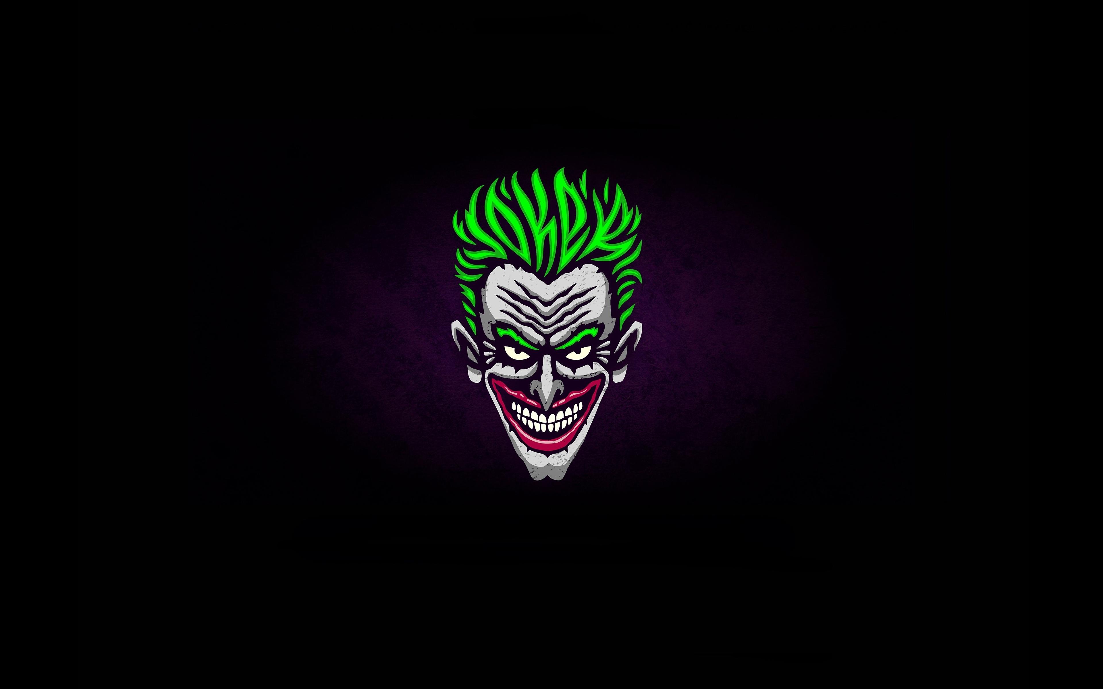 Download 3840x2400 Wallpaper Joker Face Green Hair