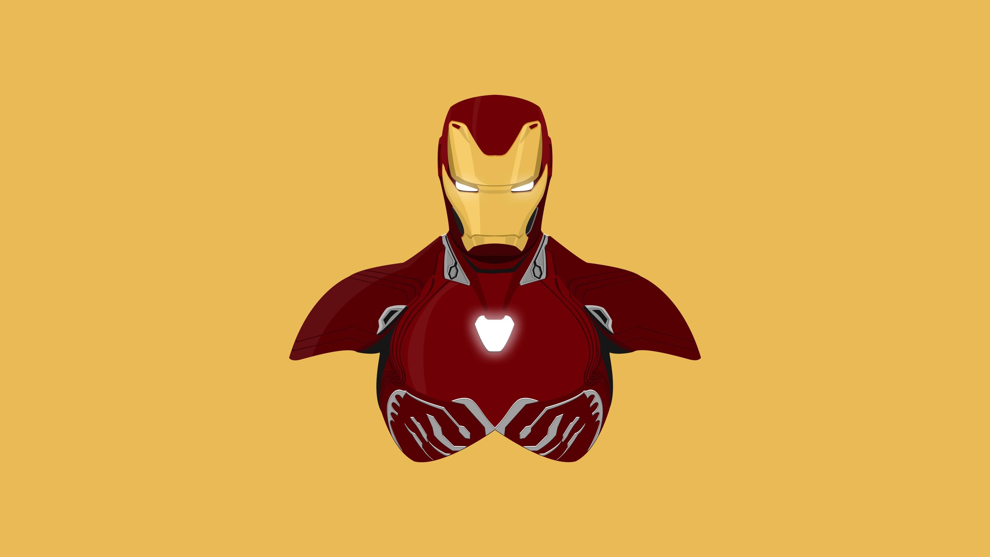 Download 3840x2400 Wallpaper Iron Man Superhero Minimal Iron Suit