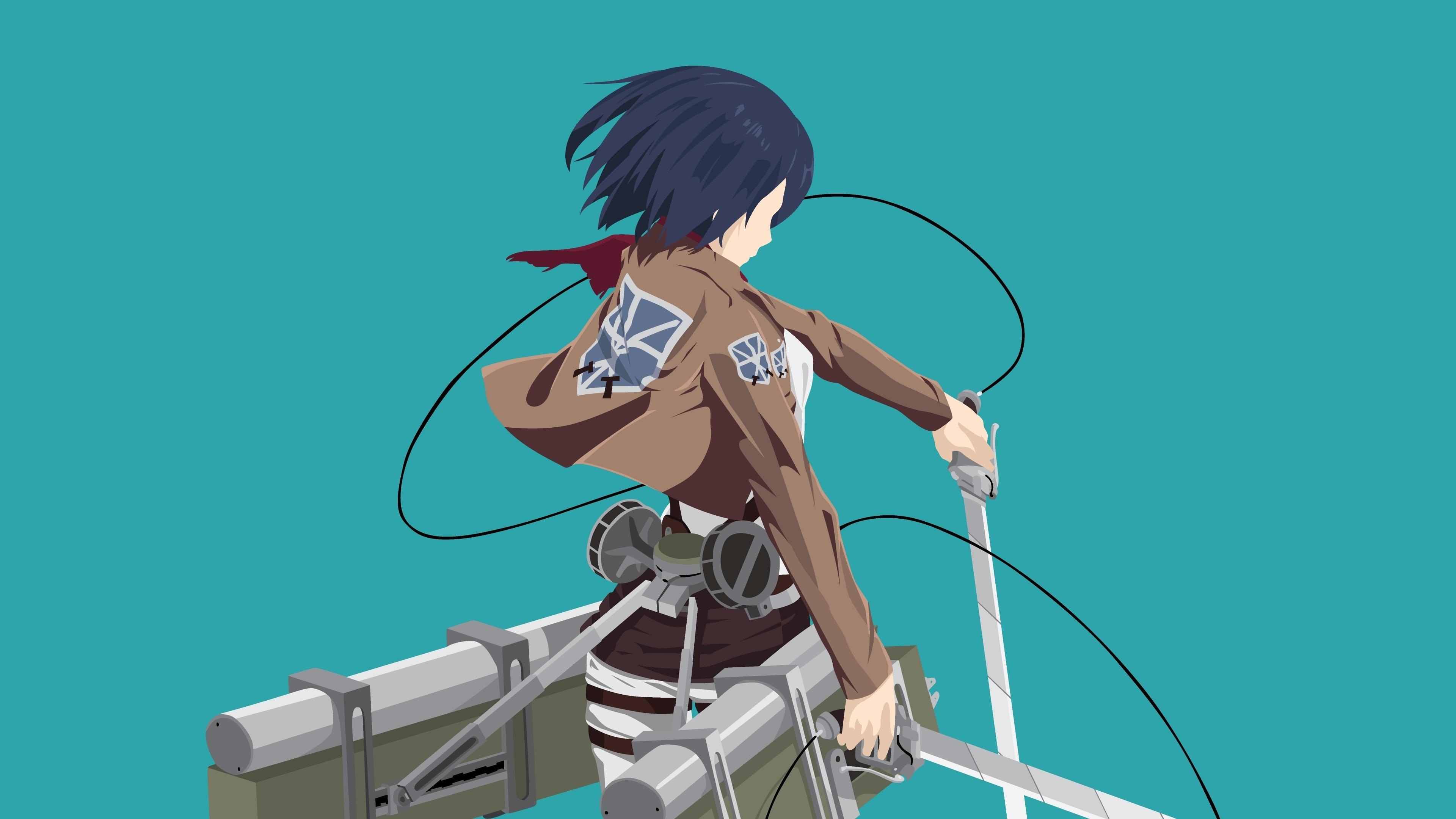 Download 3840x2400 Wallpaper Anime Girl Mikasa Ackerman Minimal 4k Ultra Hd 16 10 Widescreen 3840x2400 Hd Image Background 4075