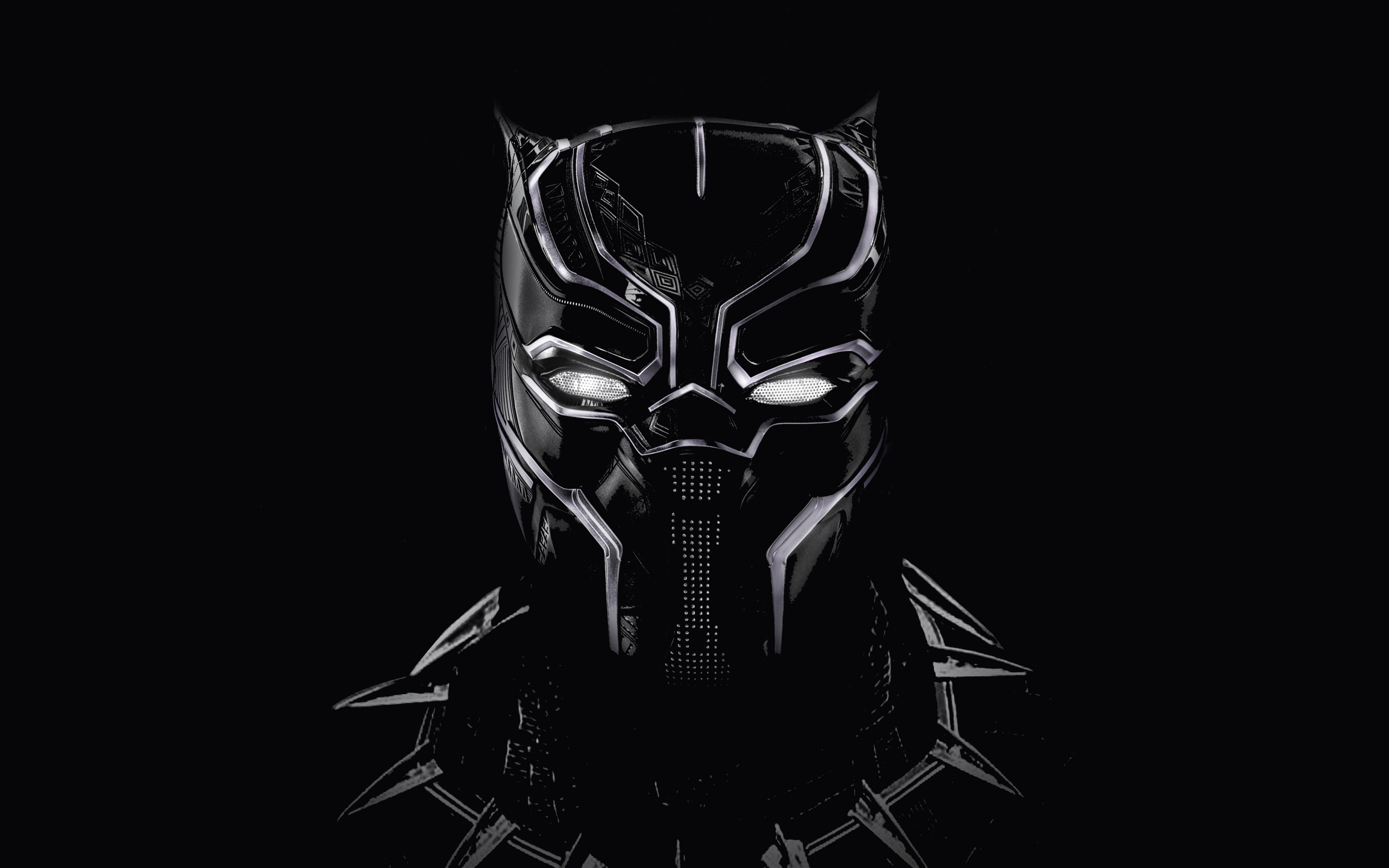 Download 3840x2400 Wallpaper Black Panther Black Mask Artwork 4k