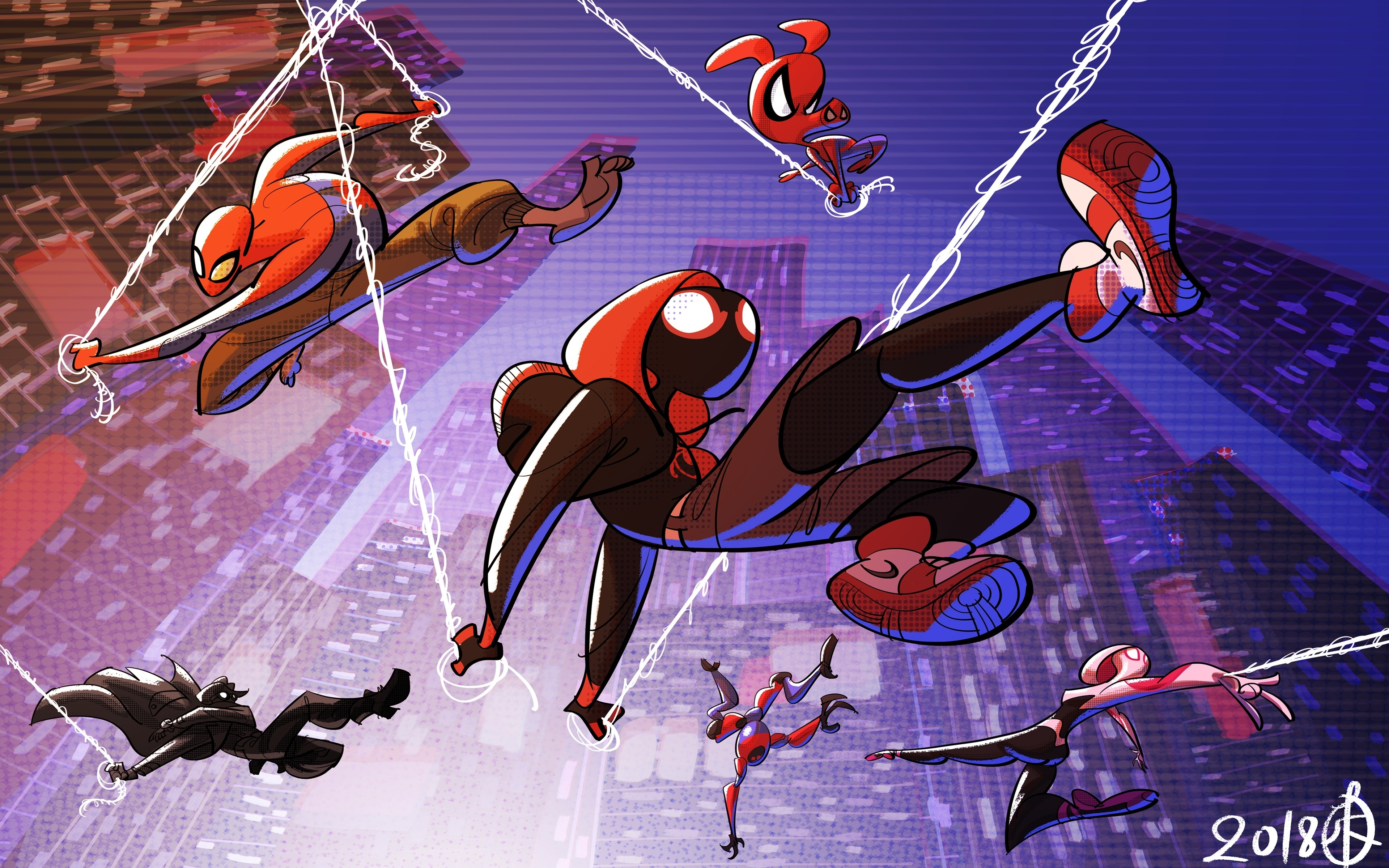 Download 3840x2400 Wallpaper All Superheroes Movie Artwork
