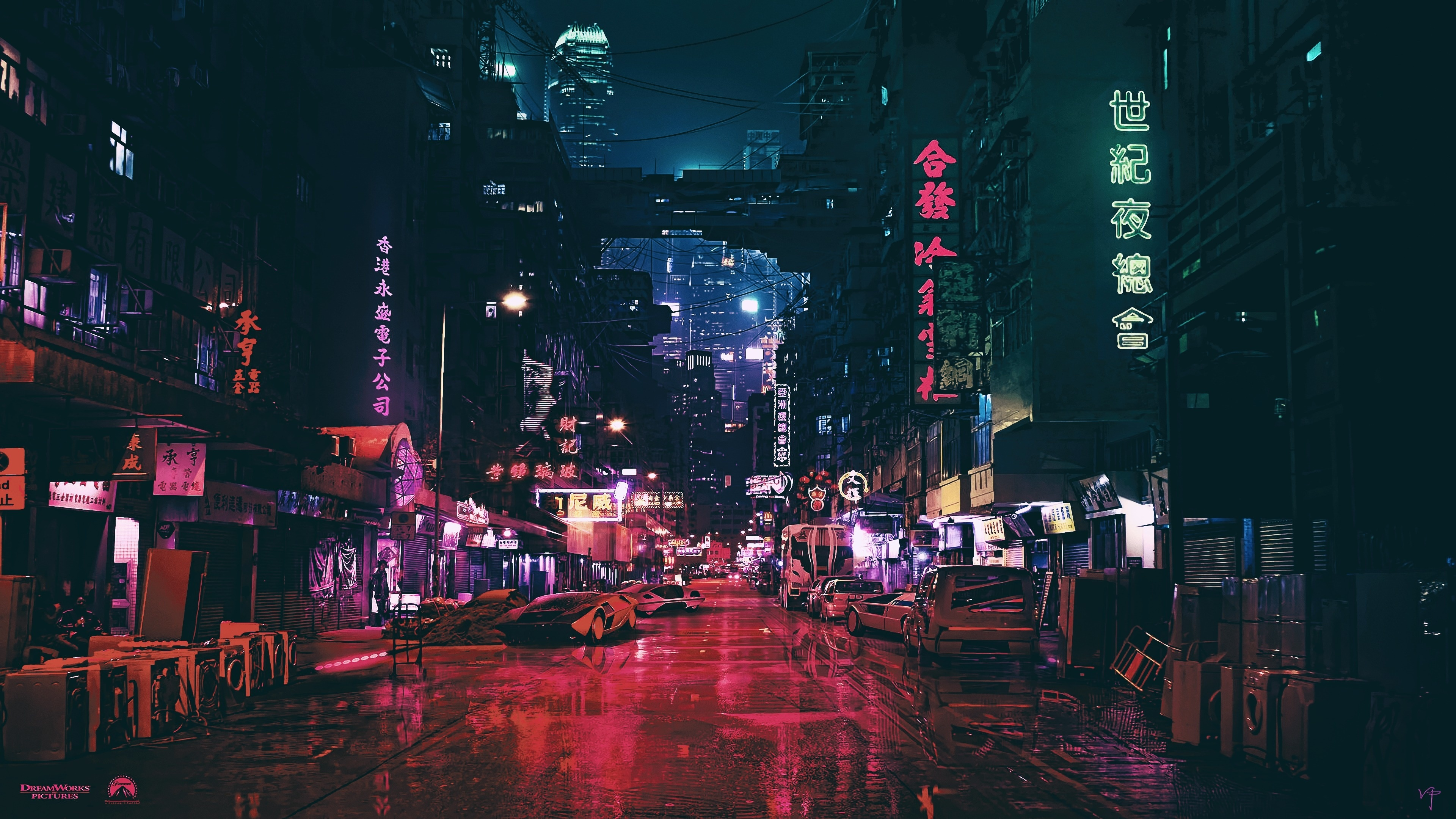Download 3840x2400 Wallpaper Ghost In The Shell City Movie