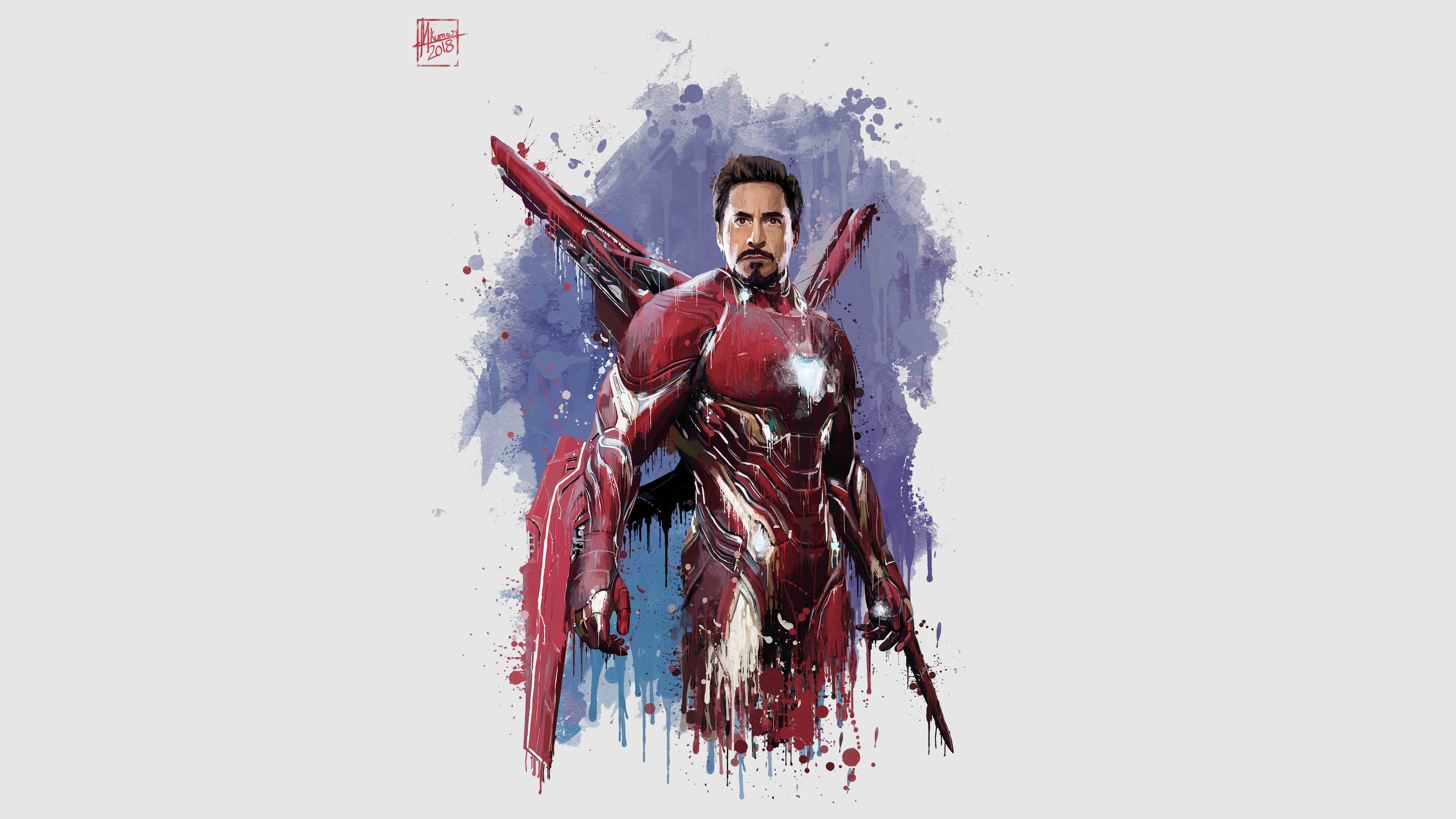 Download 3840x2400 Wallpaper Iron Man New Suit Avengers Infinity