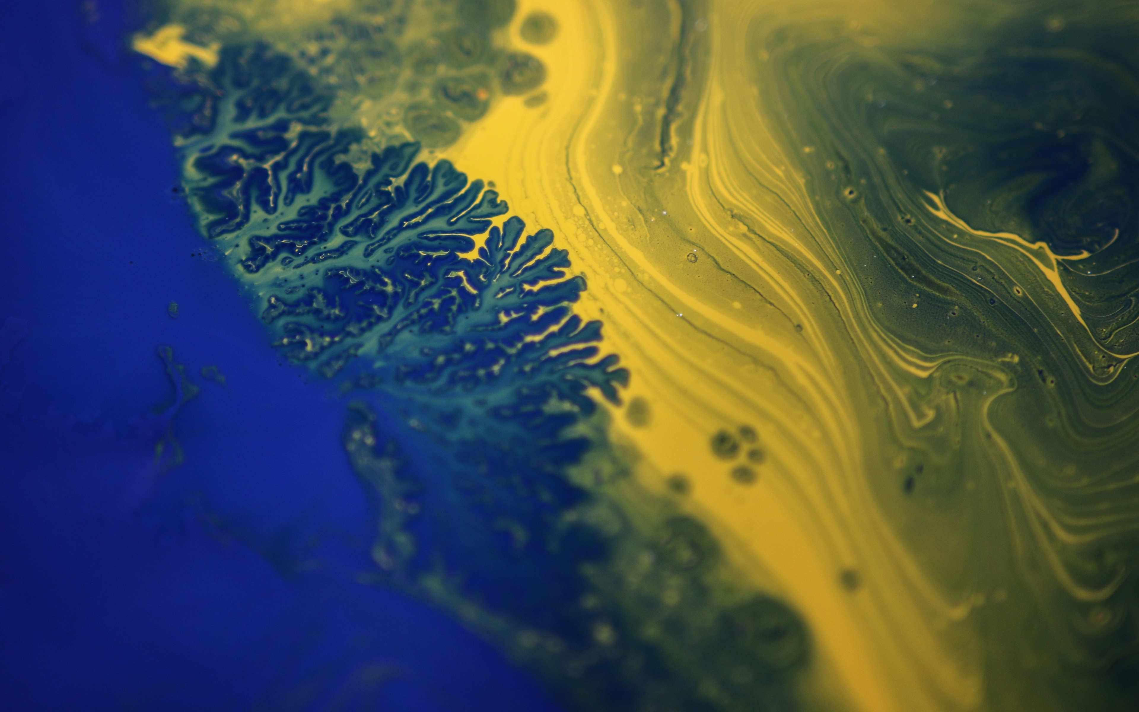 Download 3840x2400 Wallpaper Digital Paint Fractal Yellow Blue Abstract 4k Ultra Hd 16 10 Widescreen 3840x2400 Hd Image Background 4994