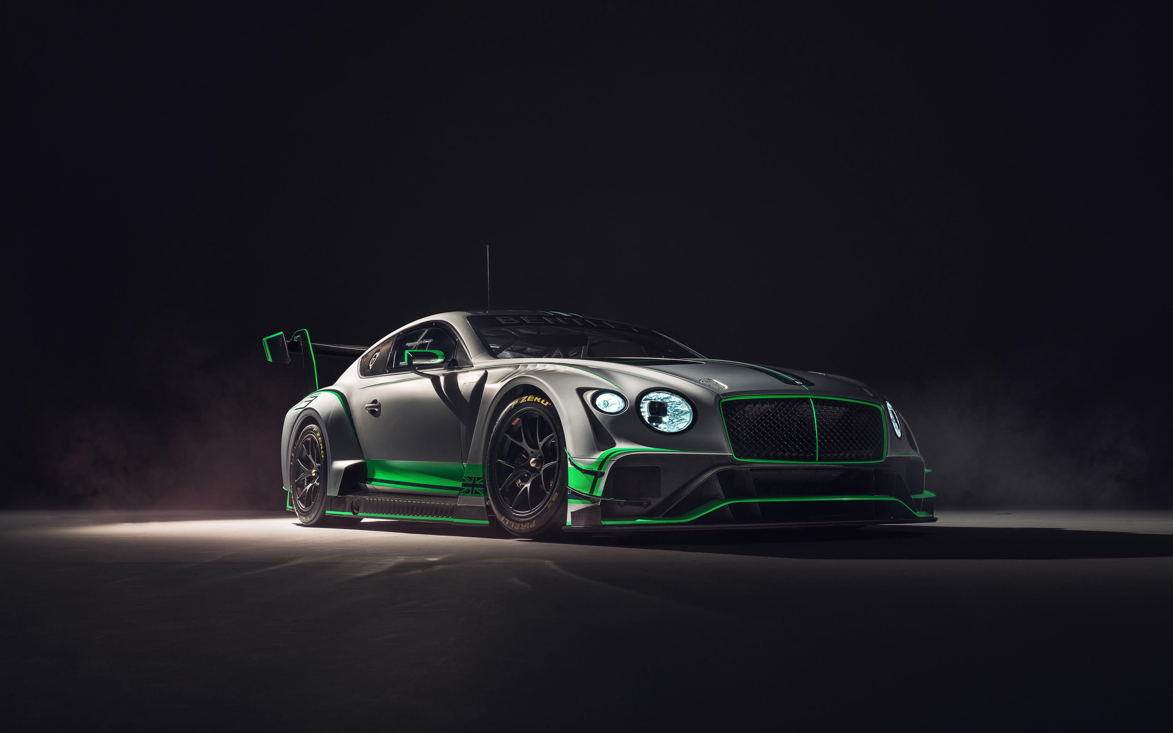 2018 Bentley Continental GT3, 2018 luxury car, 3840x2400 wallpaper