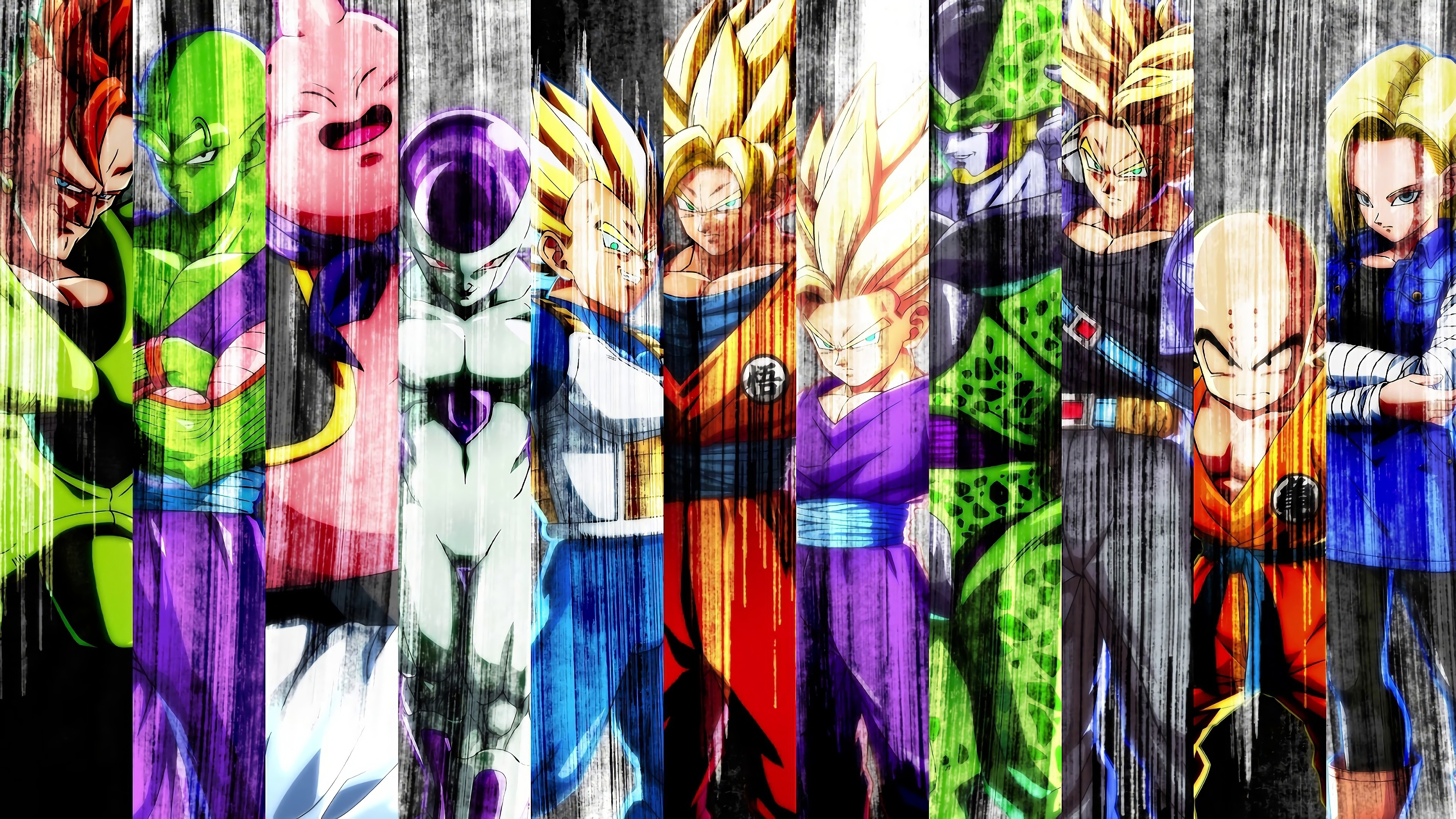 Download 3840x2400 Wallpaper All Characters Collage Dragon Ball