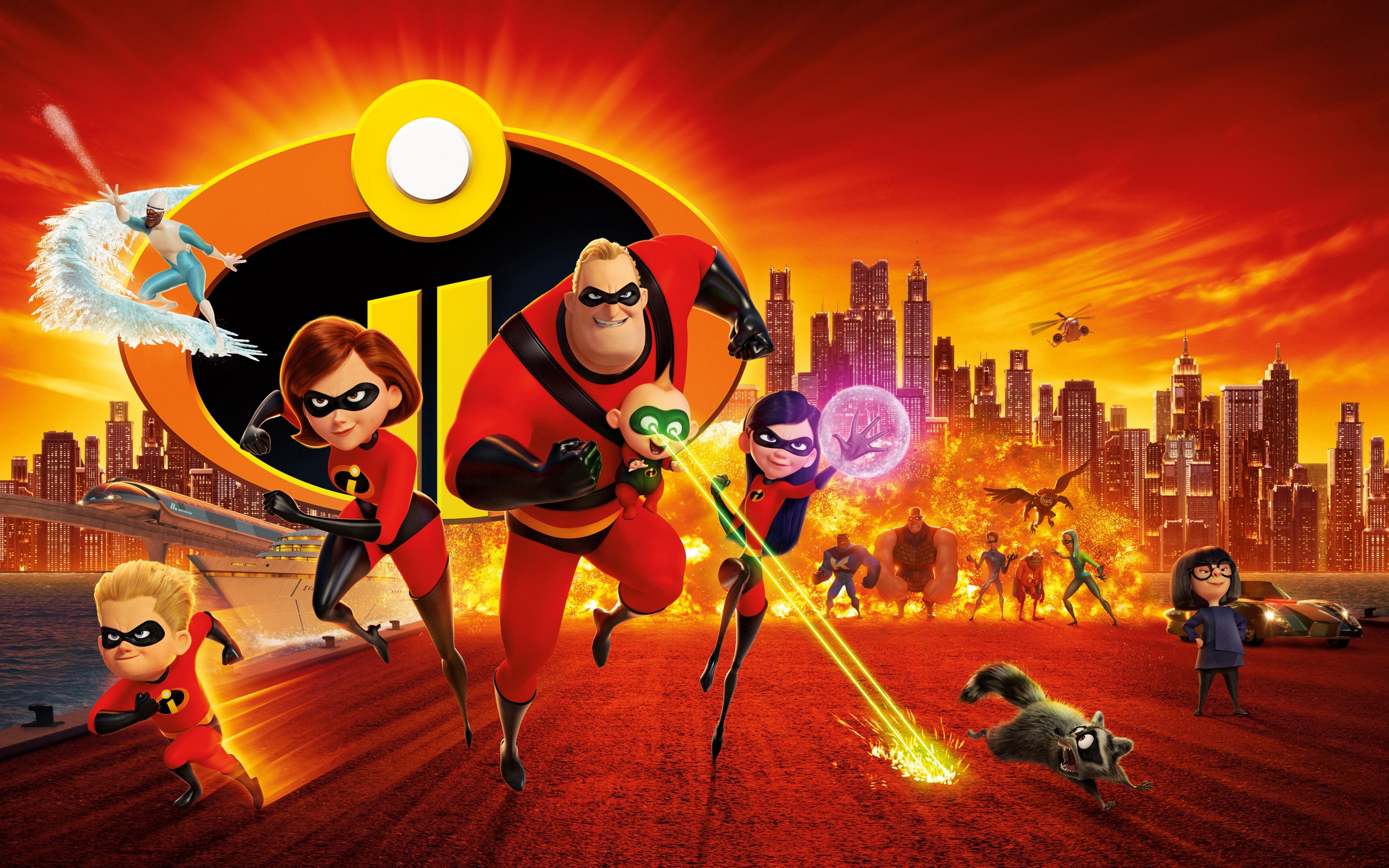 download 3840x2400 wallpaper 2018, animation movie, superheroes
