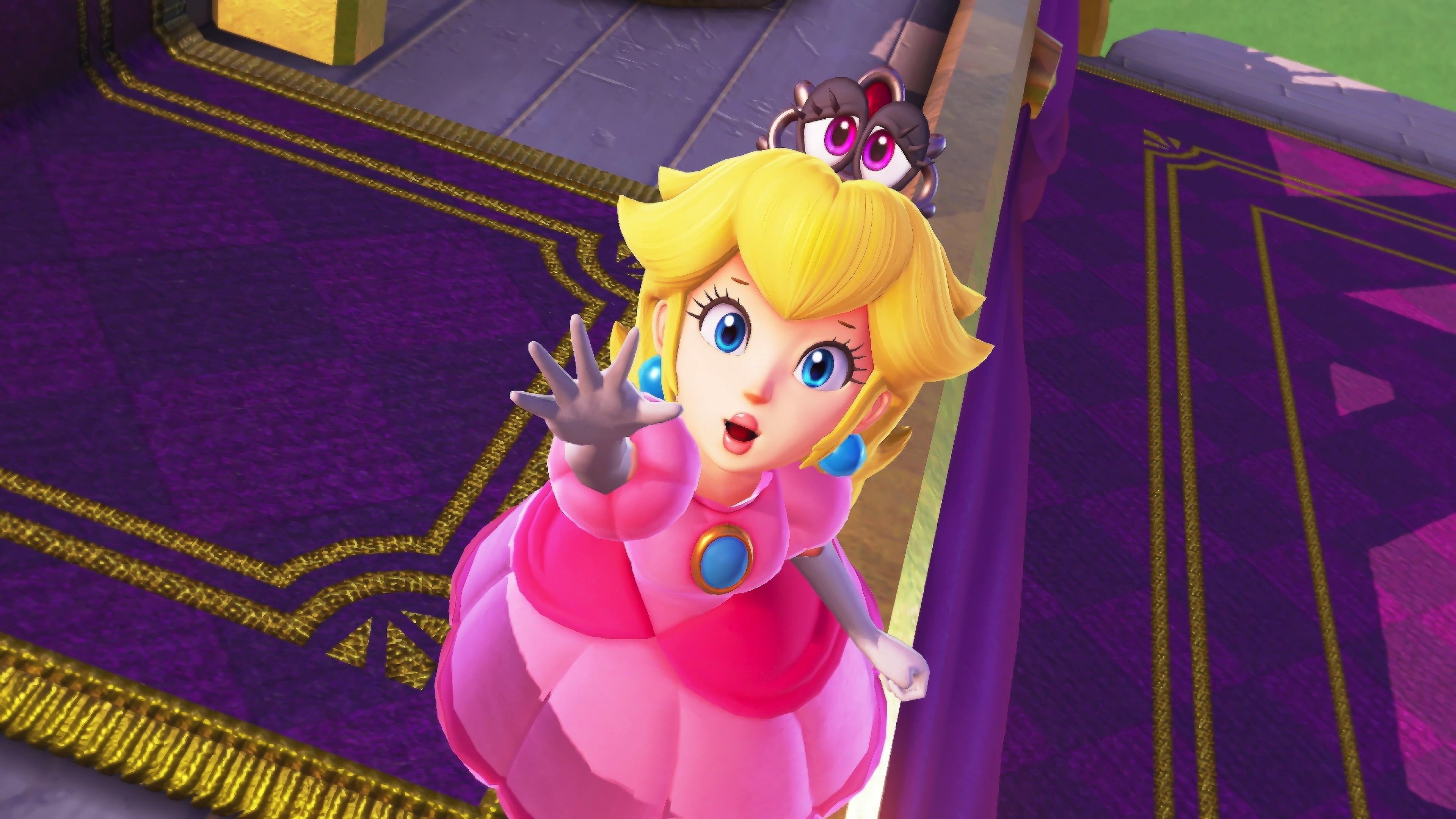 Download 3840x2400 Wallpaper Blonde Princess Super Mario Odyssey