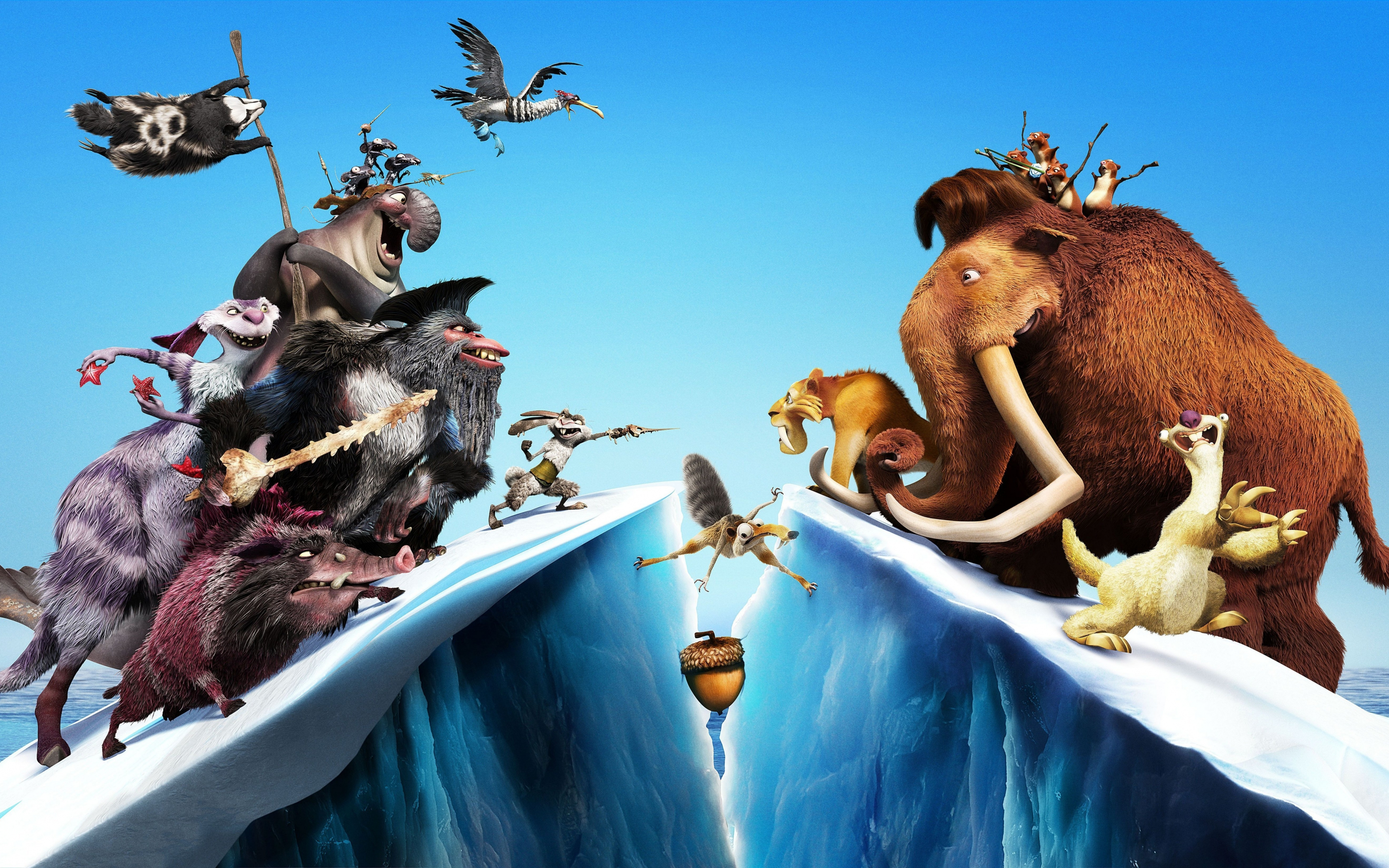 download 3840x2400 wallpaper ice age: continental drift, movie