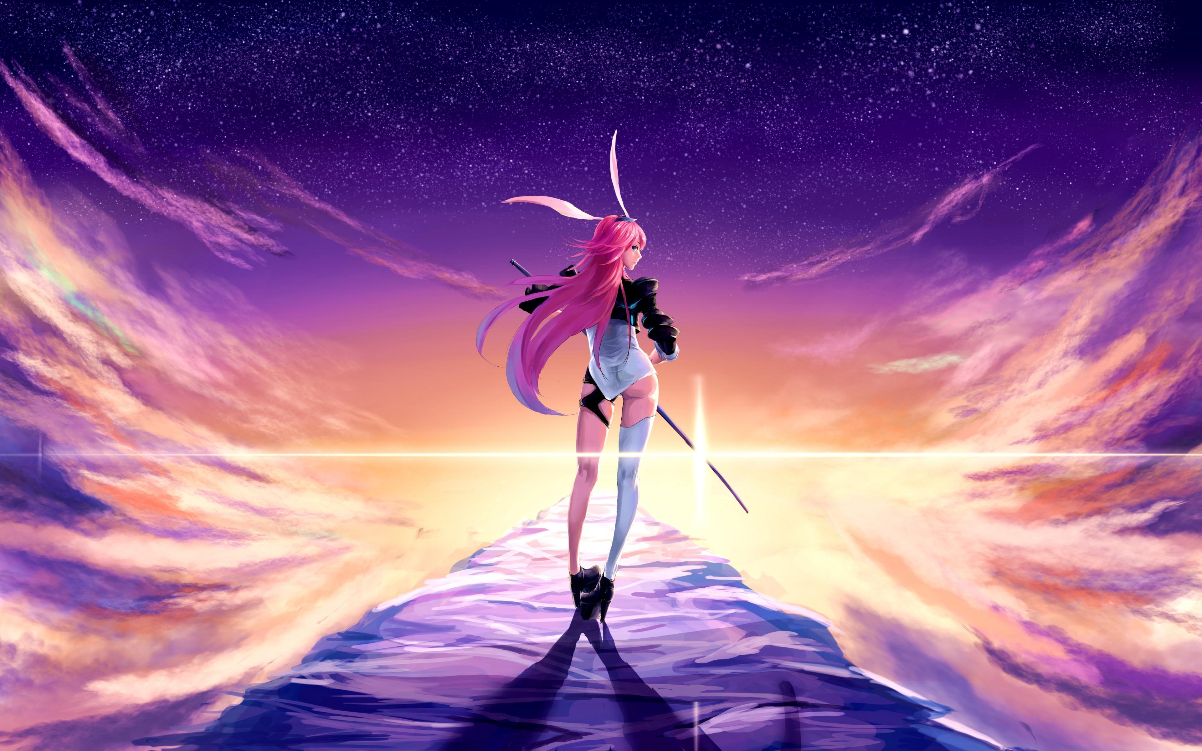 Download 3840x2400 wallpaper valkyrja, anime girl, warrior ...