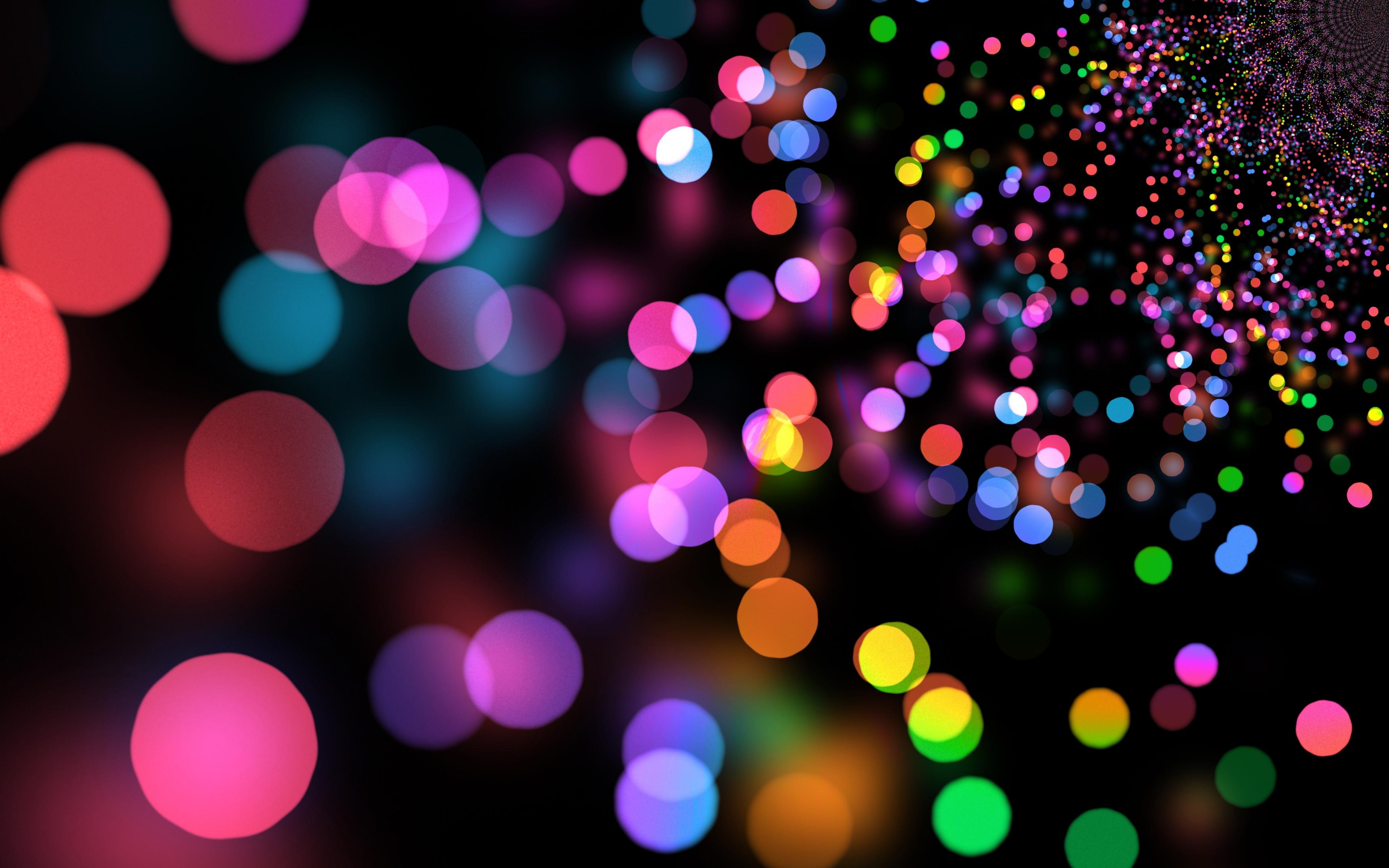 Party lights, circles, colorful, bokeh, 3840x2400 wallpaper