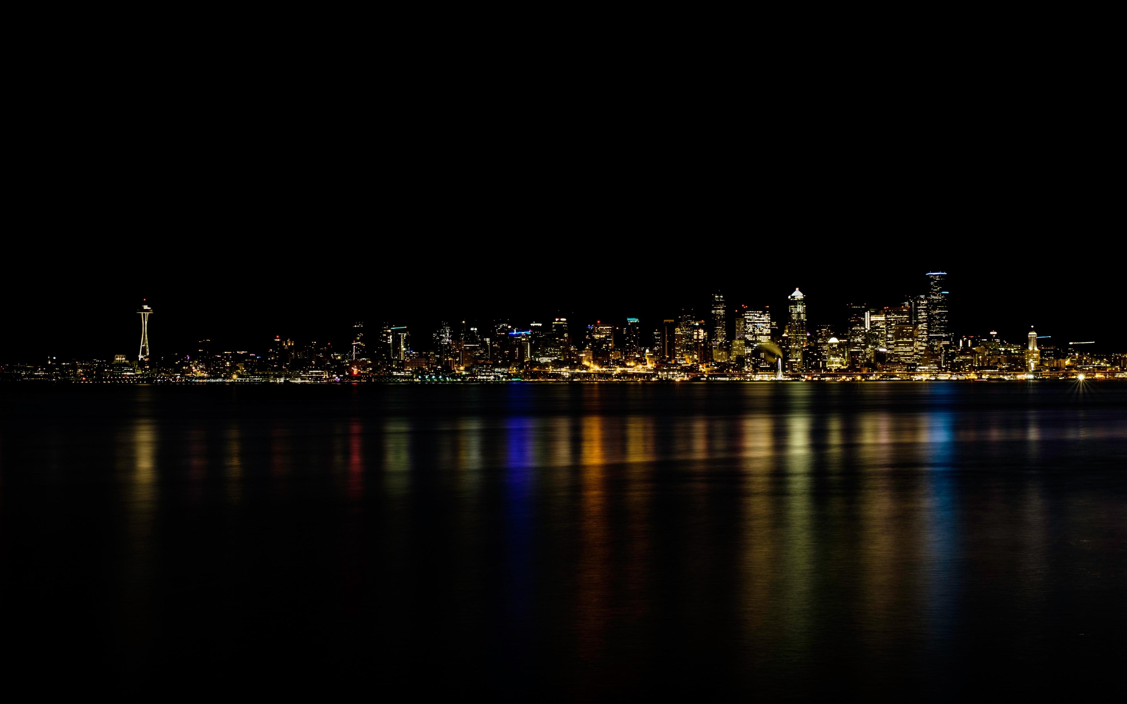 Download 3840x2400 Wallpaper Minimal Cityscape Seattle 4k Ultra Hd 16 10 Widescreen 3840x2400 Hd Image Background 19570