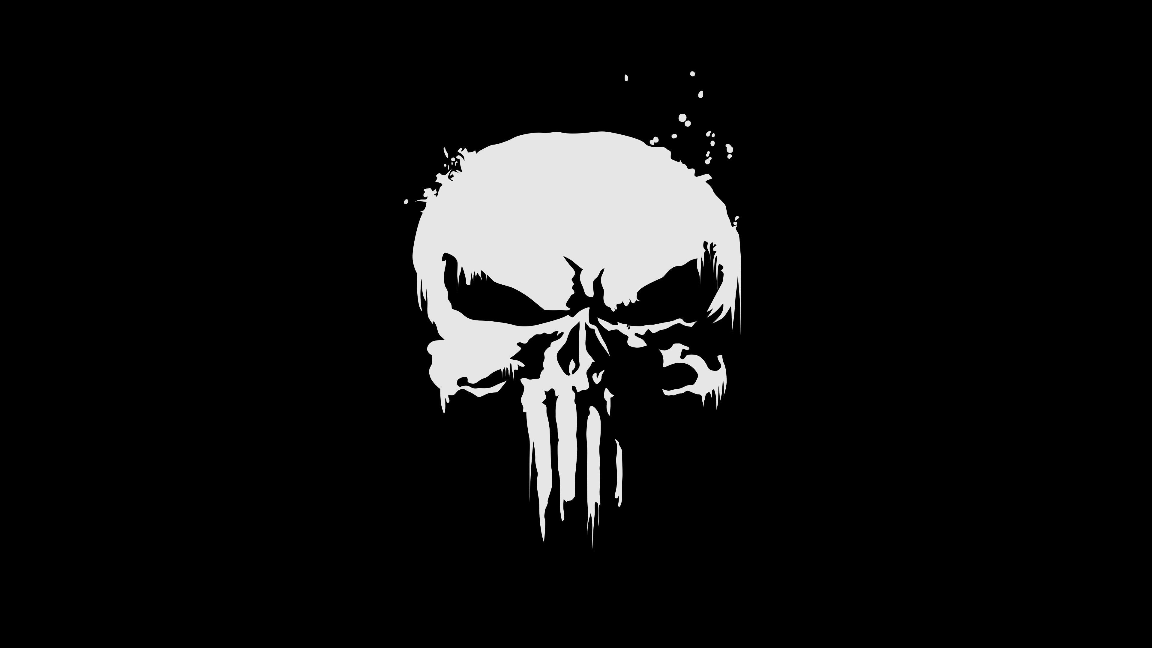 Download 3840x2400 Wallpaper The Punisher Logo Skull 4k