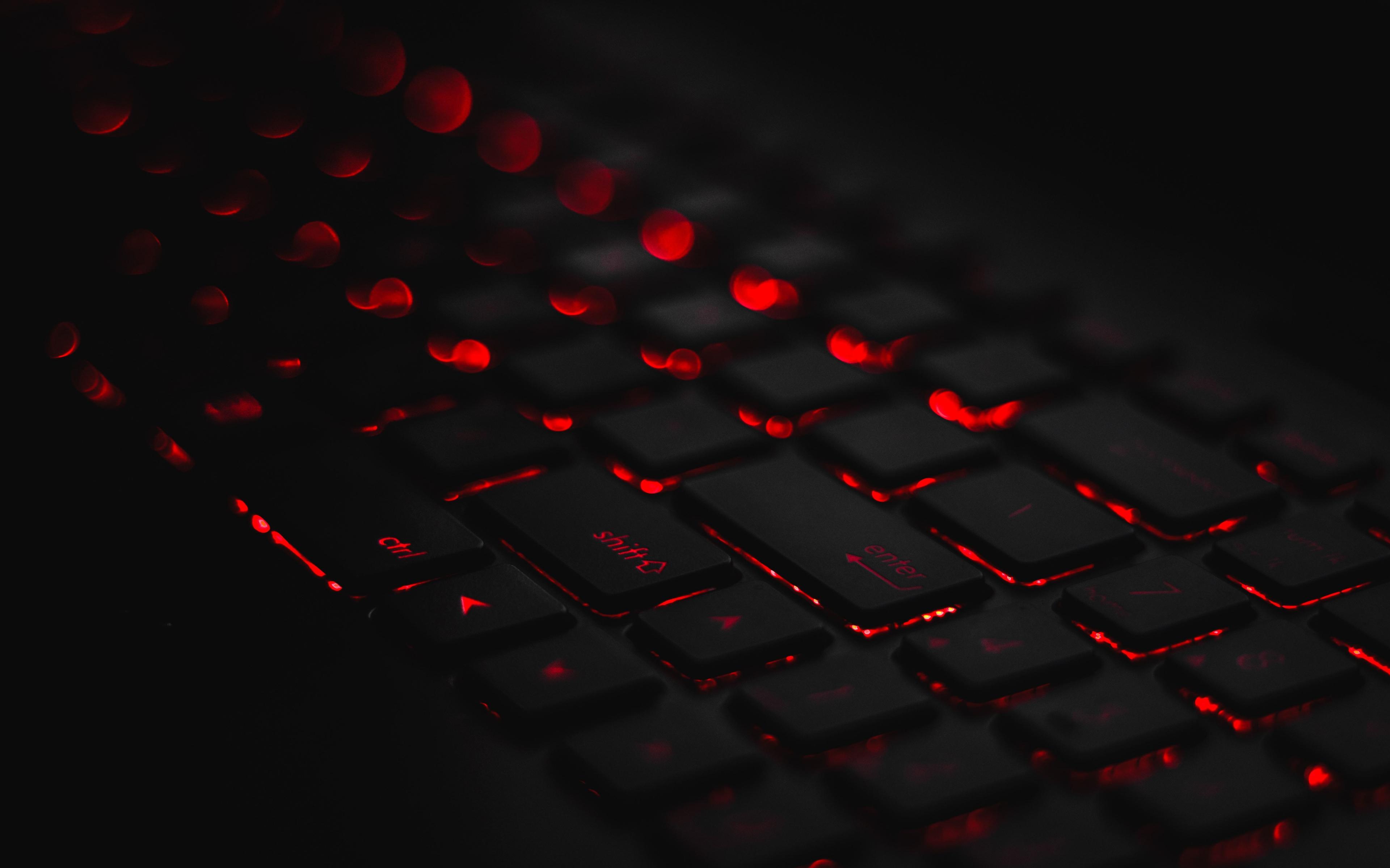 Download 3840x2400 Wallpaper Keyboard Dark Red Glow 4k Ultra Hd 16 10 Widescreen 3840x2400 Hd Image Background 19829