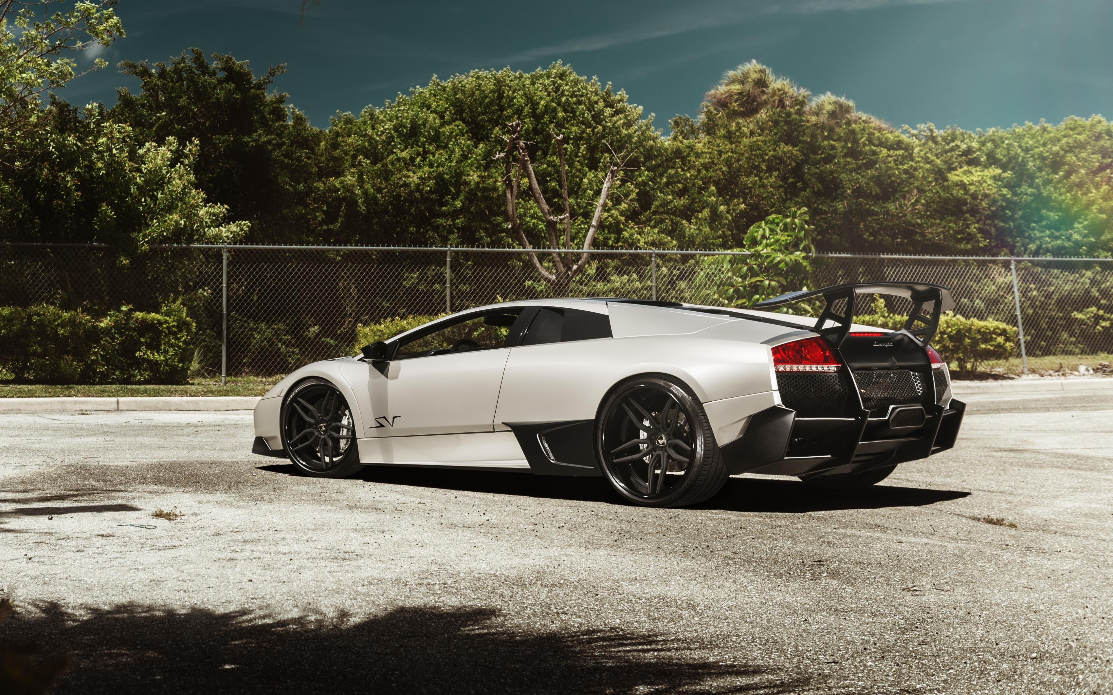 Download 3840x2400 Wallpaper Lamborghini Murcielago Rear Sports