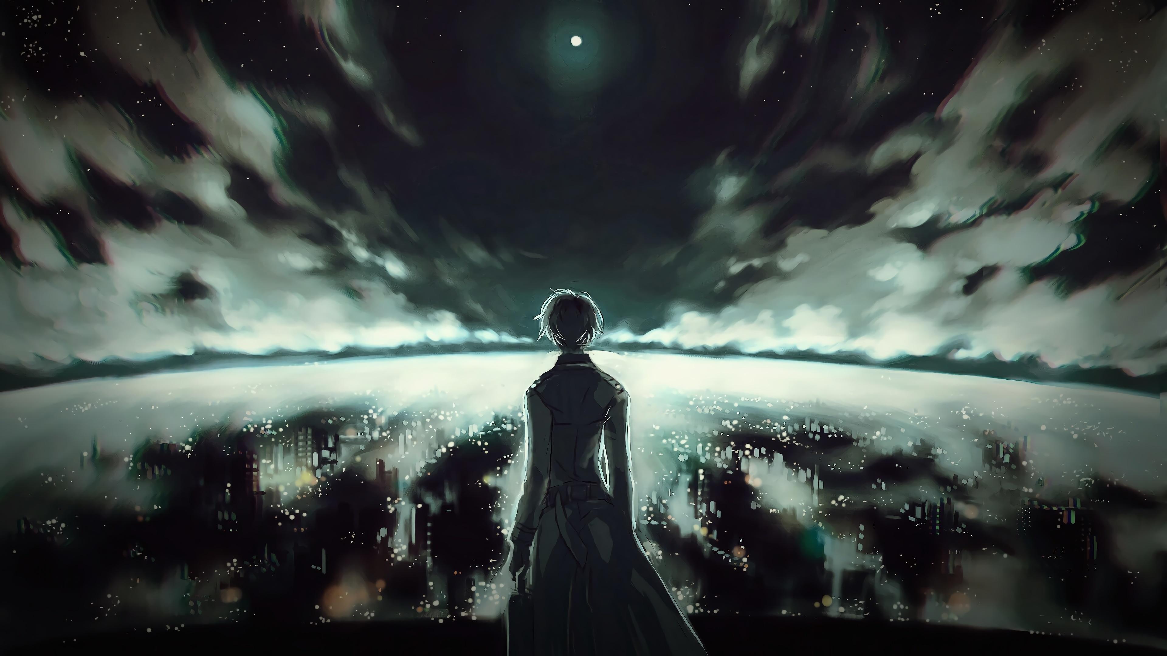 Ken Kaneki Tokyo Ghoul Anime Dark 3840x2400 Wallpaper