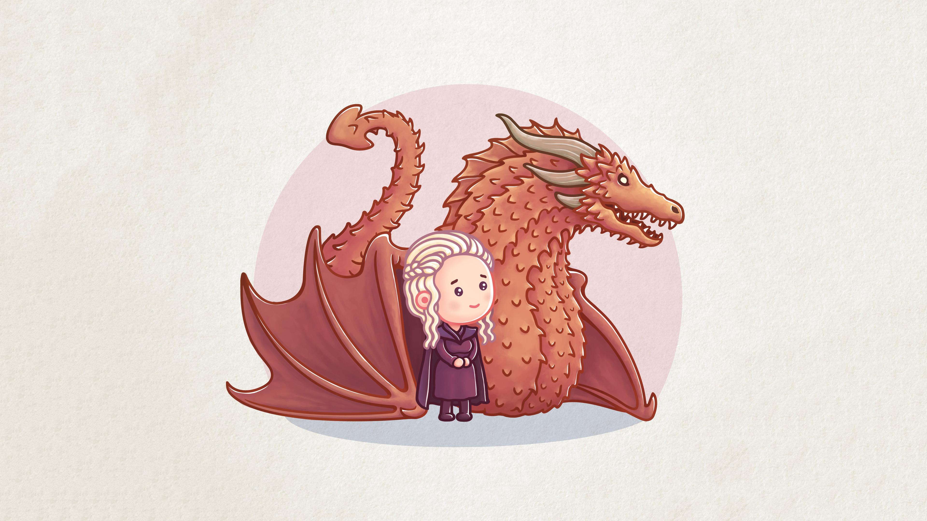 Download 3840x2400 Wallpaper Dragon Queen Khaleesi
