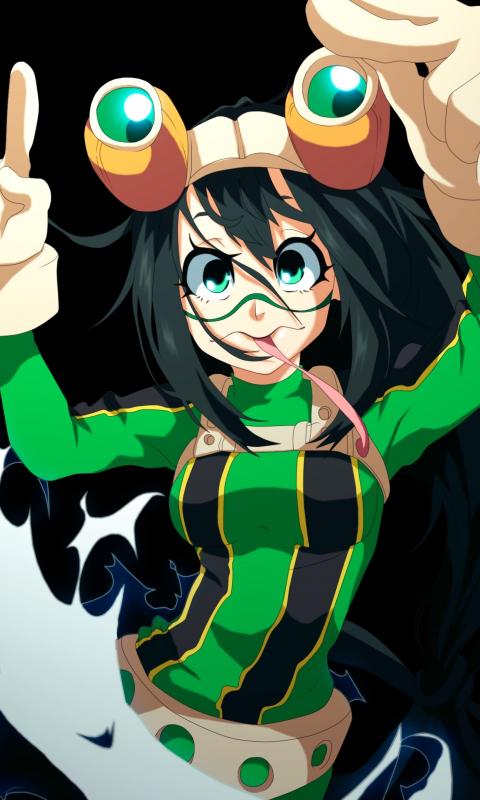 Download 480x800 Wallpaper Tsuyu Asui Boku No Hero Academia