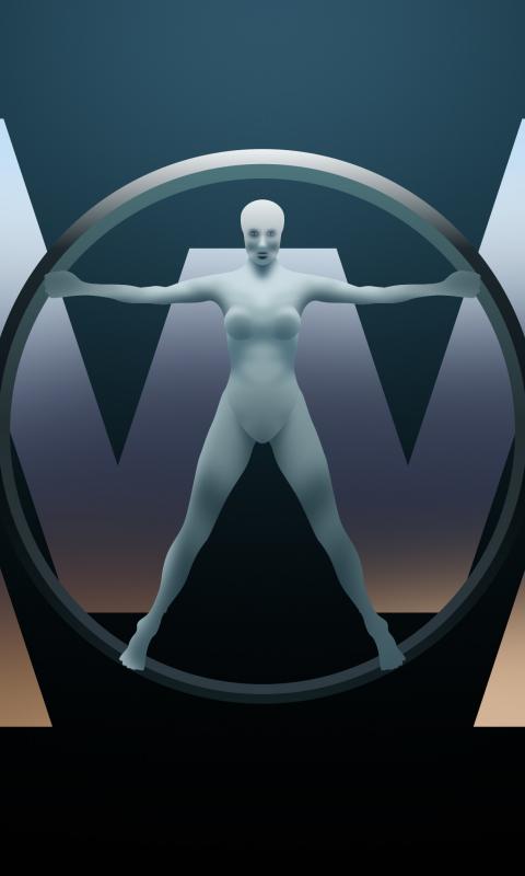 Download 480x800 wallpaper westworld, tv show, logo, digital