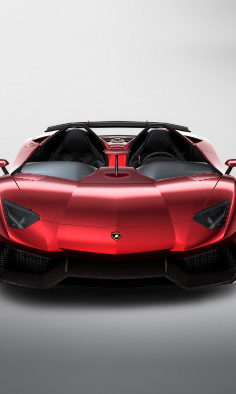 Download 480x800 Wallpaper Red Sports Car Lamborghini Aventador