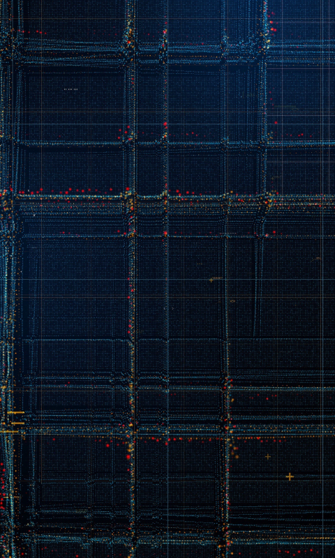 Particles, structure, lines, pattern, dark, 480x800 wallpaper