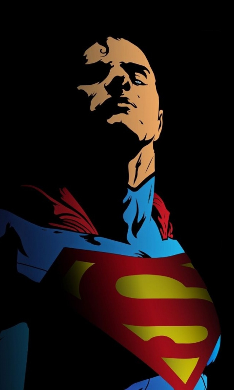 Superman, minimal, art, 480x800 wallpaper