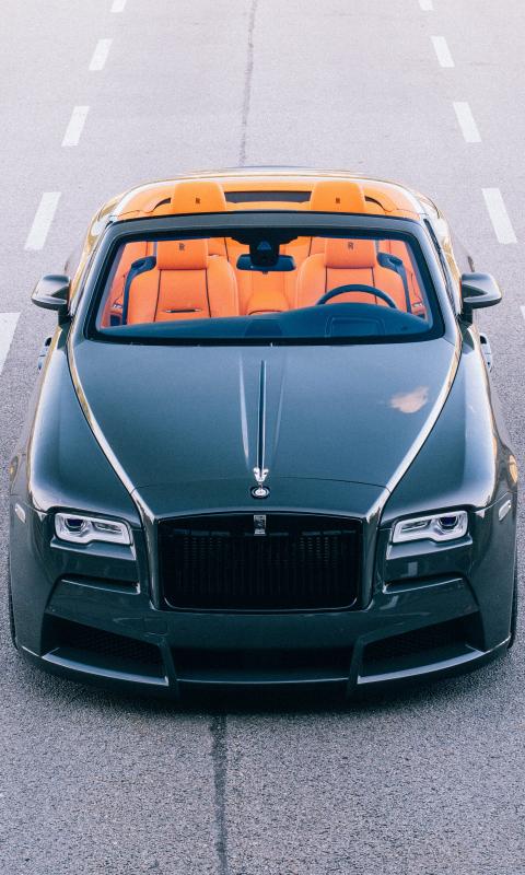 2017 spofec Rolls-Royce Dawn overdose, front view, 480x800 wallpaper