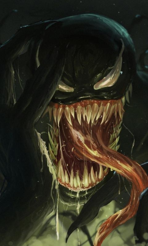 Dark, superhero, villain, Venom, 480x800 wallpaper