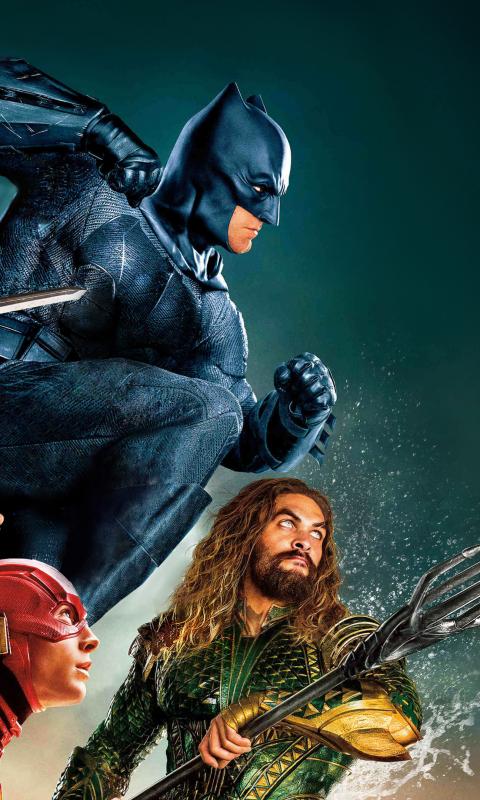 Justice league, movie, superheroes, 480x800 wallpaper
