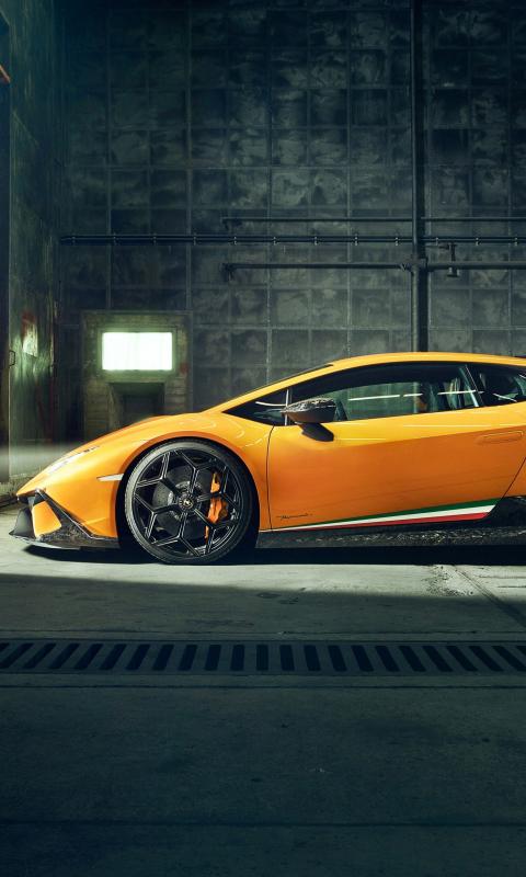Download 480x800 Wallpaper Lamborghini Huracan Performante Side