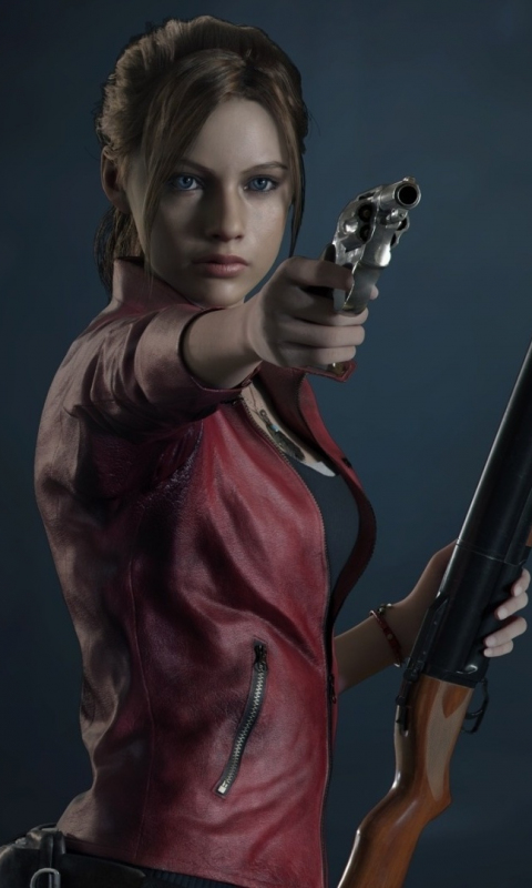 Resident Evil 2, video game, Claire Redfield, 480x800 wallpaper