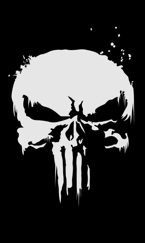 Download 480x800 Wallpaper The Punisher Logo Skull Nokia X X2 Xl 520 620 820 Samsung Galaxy Star Ace Asus Zenfone 4 480x800 Hd Image Background 1252