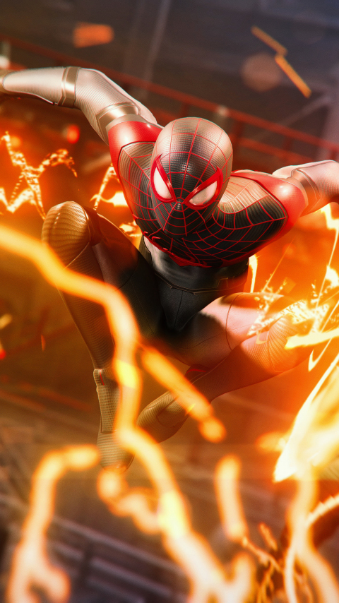 Download 480x854 Wallpaper Miles Morales Video Game 2020 Ps5 Nokia Lumia 630 Sony Ericsson Xperia 480x854 Hd Image Background 26639