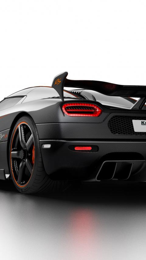 Koenigsegg agera rs rear view 4k