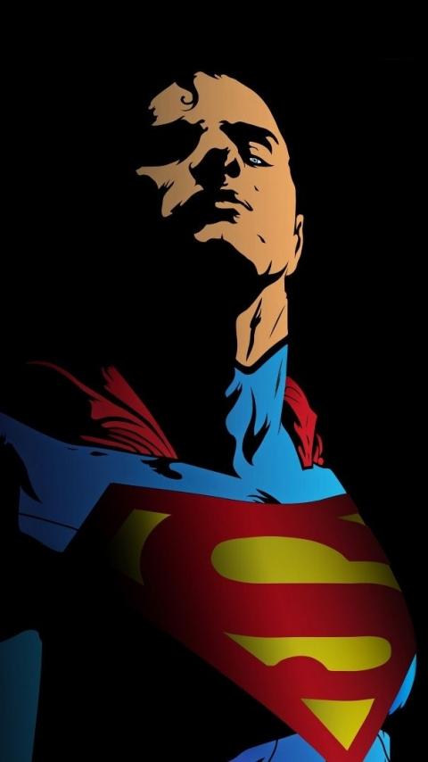 Superman, minimal, art, 480x854 wallpaper