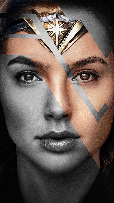 Wonder woman, gal gadot, justice league, actress, 480x854 wallpaper