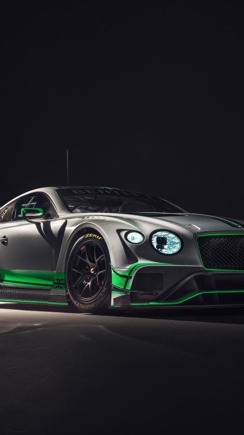 2018 Bentley Continental GT3, 2018 luxury car, 480x854 wallpaper